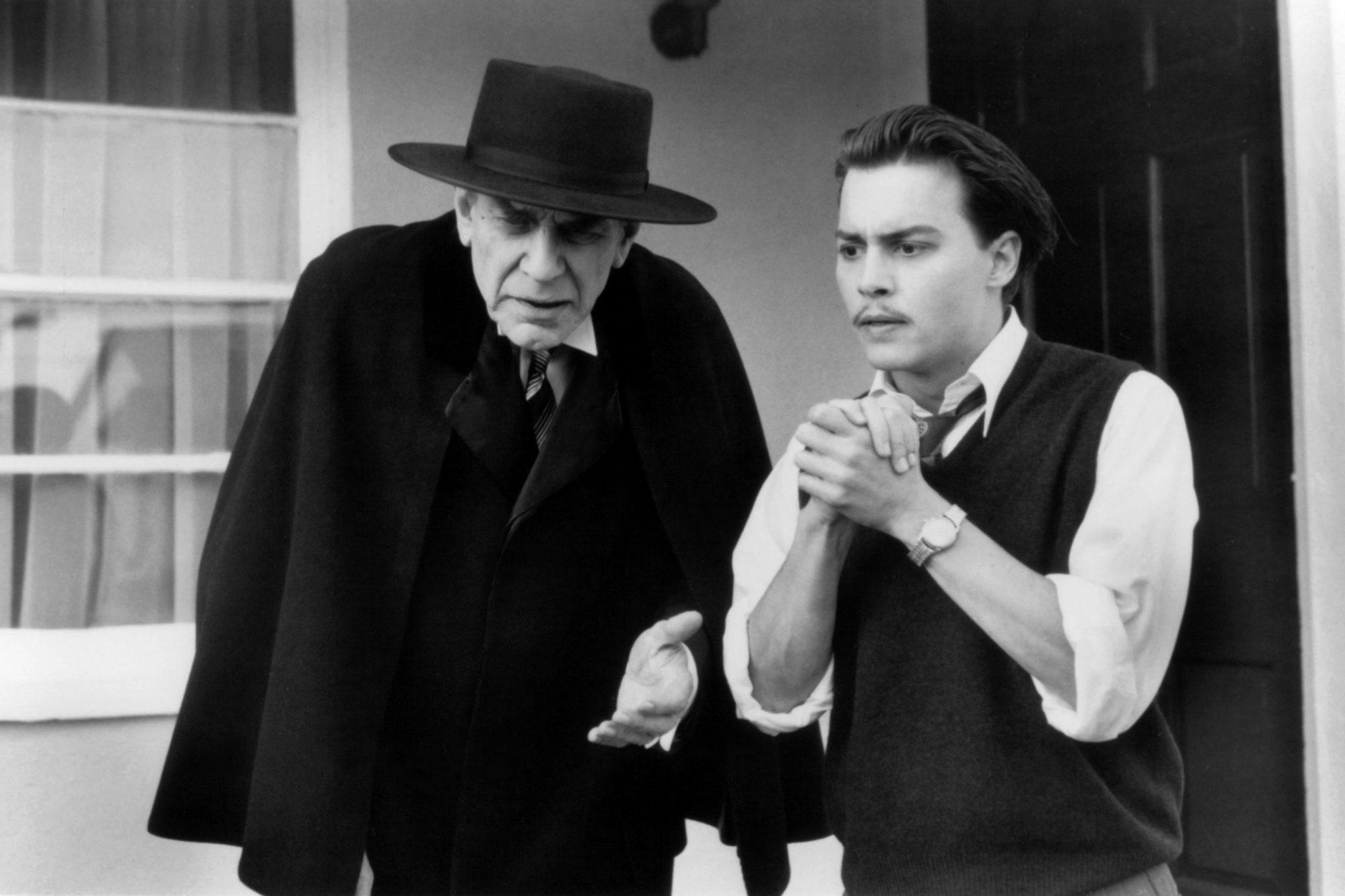 Martin Landau And Johnny Depp In 'Ed Wood'