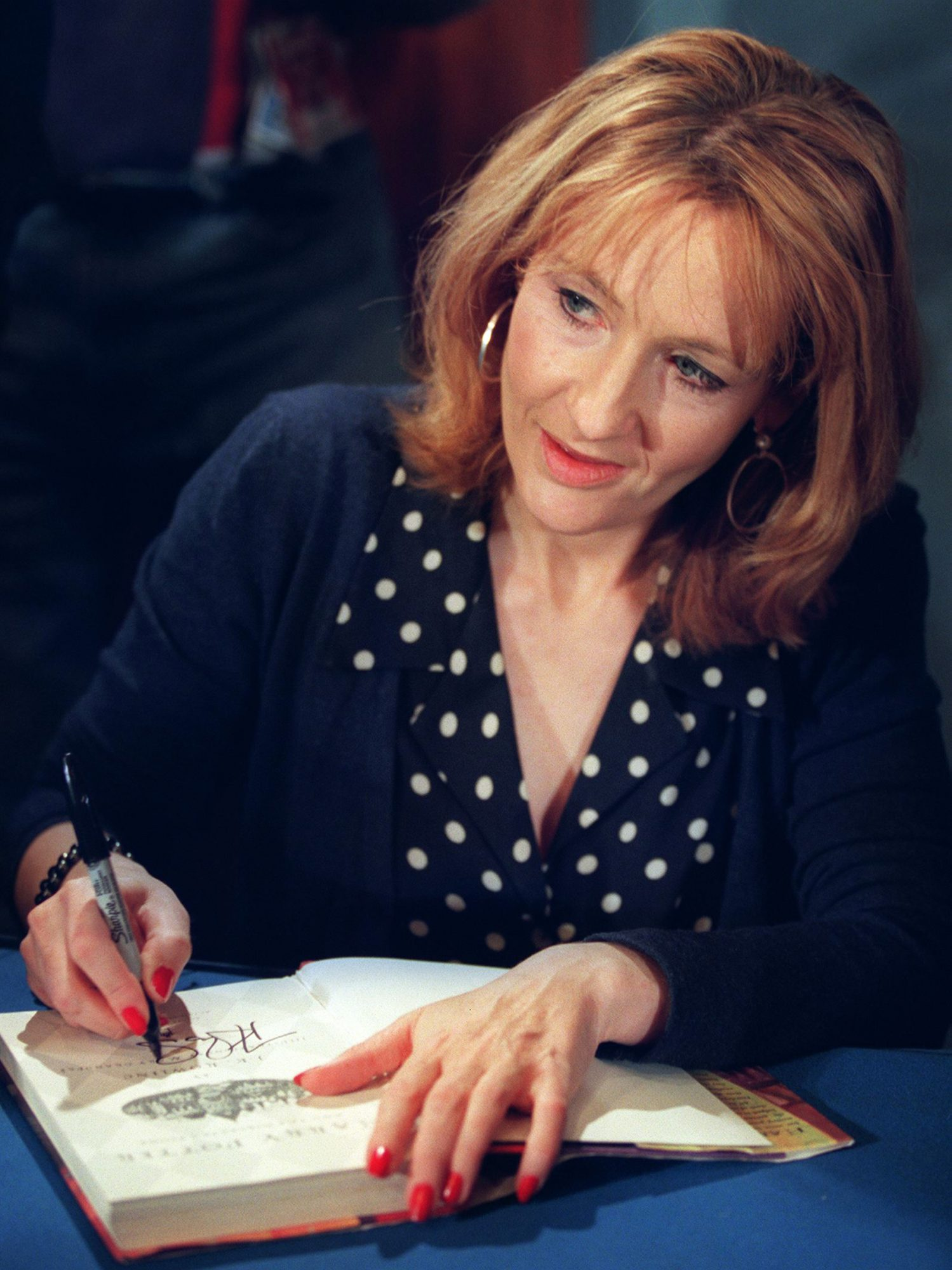 J.K. Rowling, author of the best-selling Harry Pot