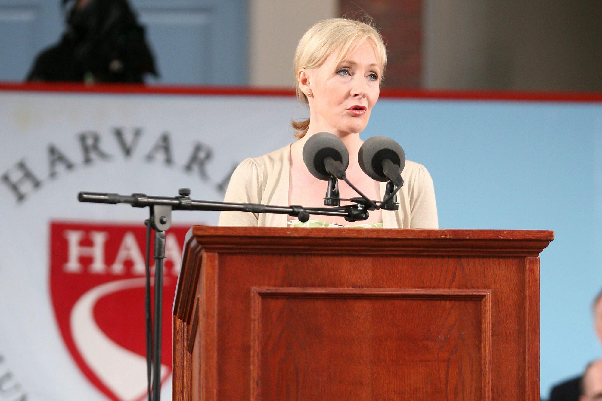 JK Rowling Address Headlines Harvard Univ. Commencement
