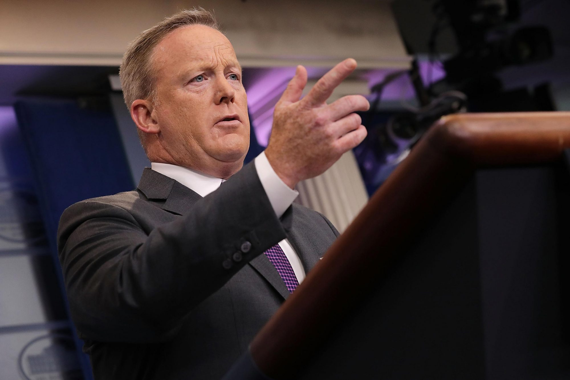 Press Secretary Sean Spicer Holds Daily Press Briefing At White House