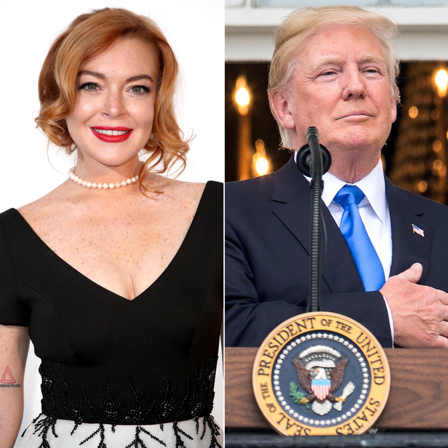 Linsday Lohan and Donald Trump