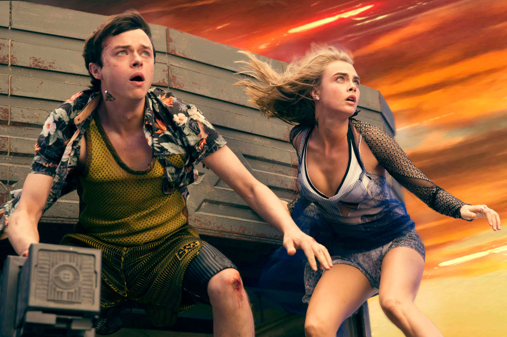Dane DeHaan and Cara Delevigne (Valerian and the City of a Thousand Planets, out July 21)