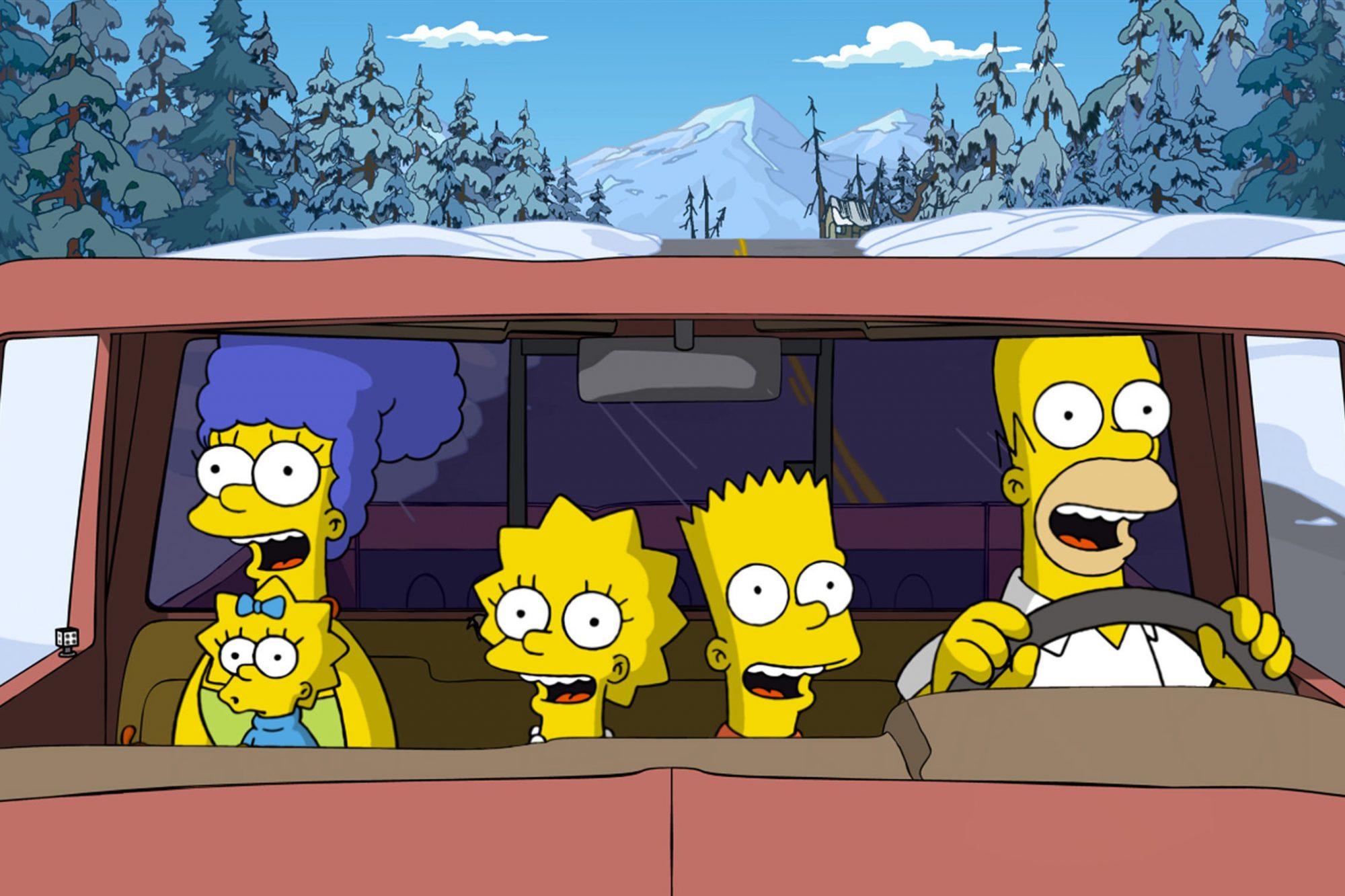 THE SIMPSONS MOVIE, Marge Simpson (back left, voice: Julie Kavner), Maggie Simpson (front left), Lis