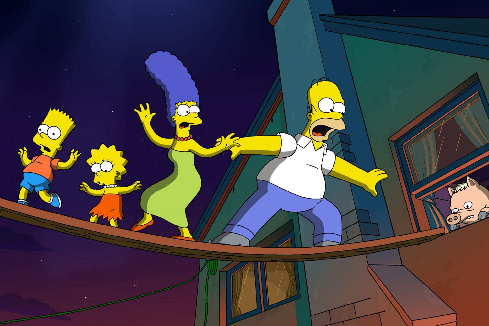 THE SIMPSONS MOVIE, Maggie Simpson, Bart Simpson (voice: Nancy Cartwright), Lisa Simpson (voice: Yea