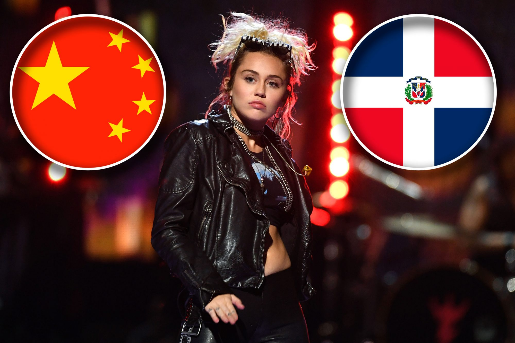 Miley Cyrus (China, Dominican Republic)
