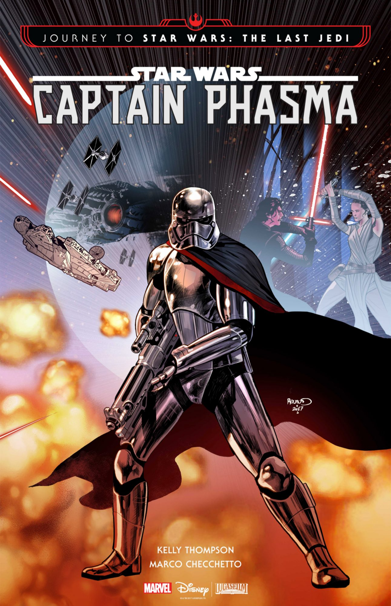 Captain Phasma, written by Kelly Thompson and illustrated by Marco Checchetto