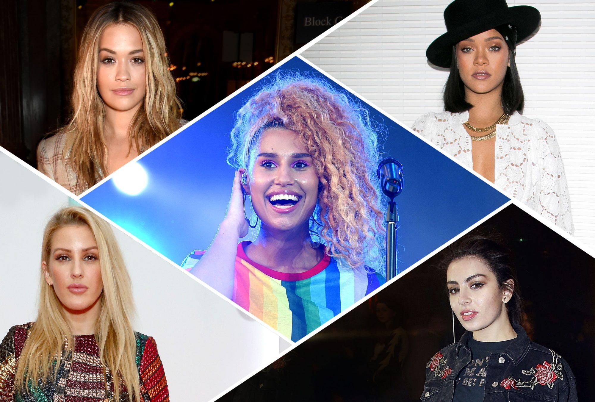 Rita Ora, Rihanna, Charli XCX, Ellie Goulding and RAYE