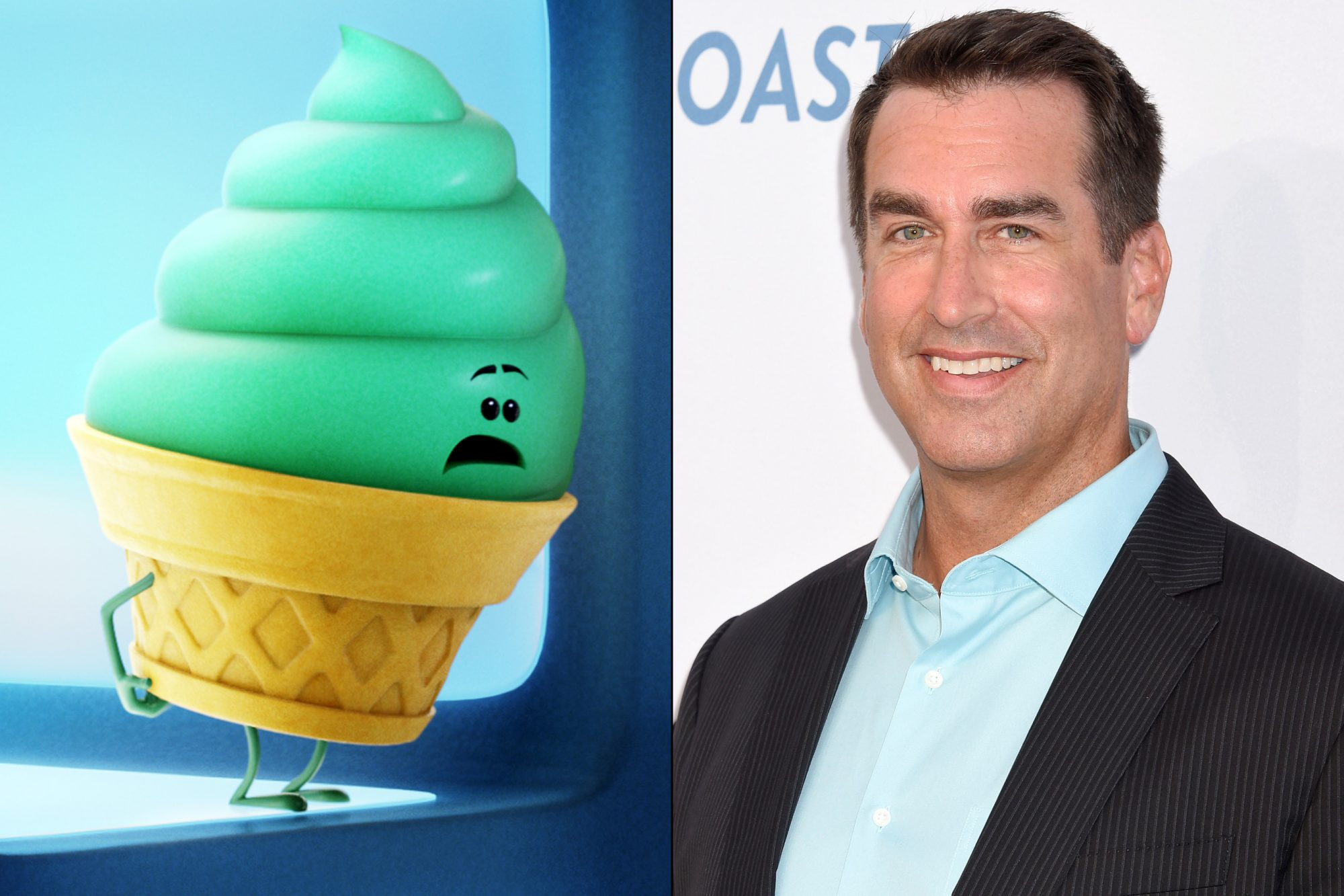Rob Riggle voices an ice cream emoji