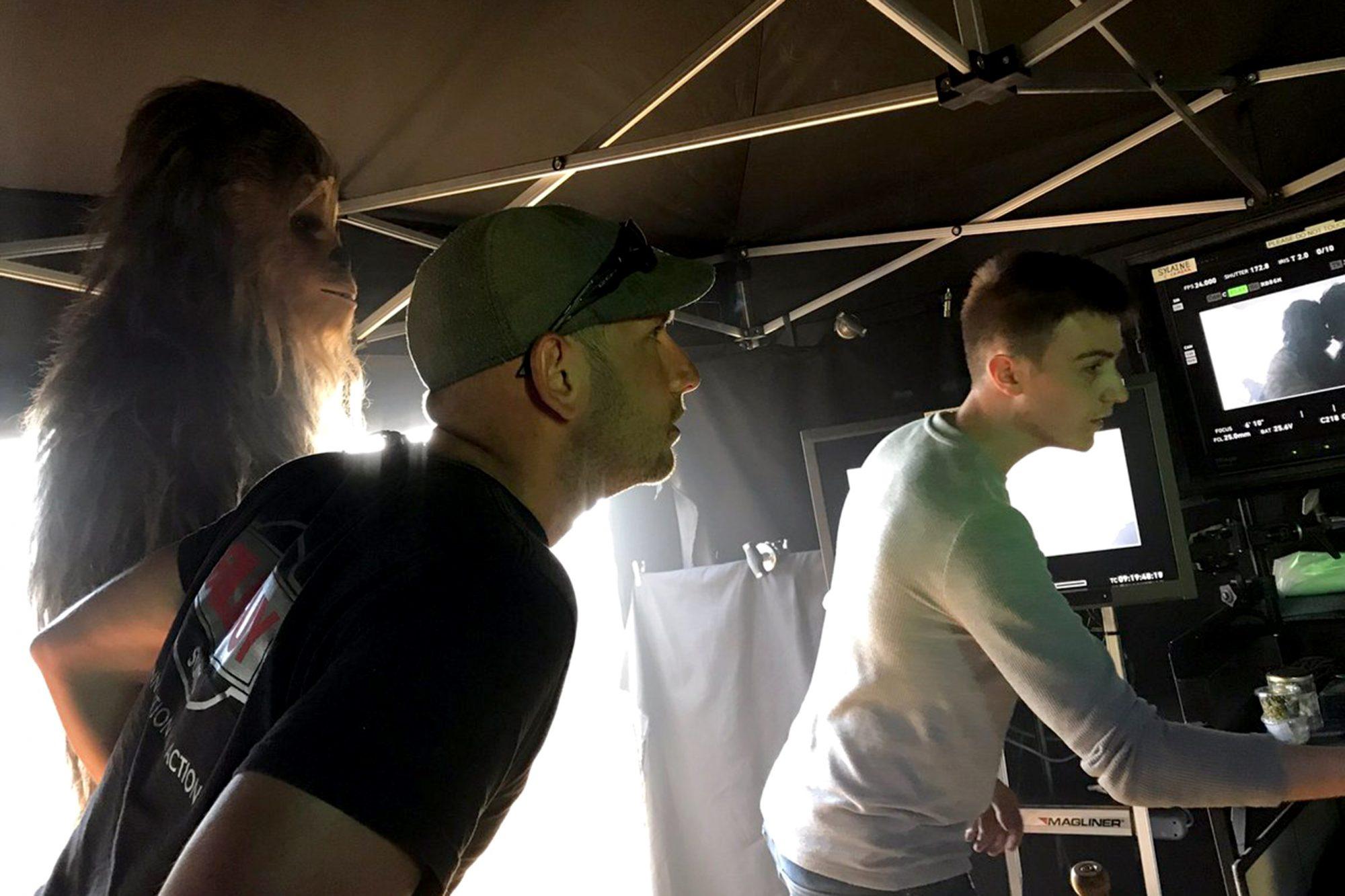 Ron Howard on set