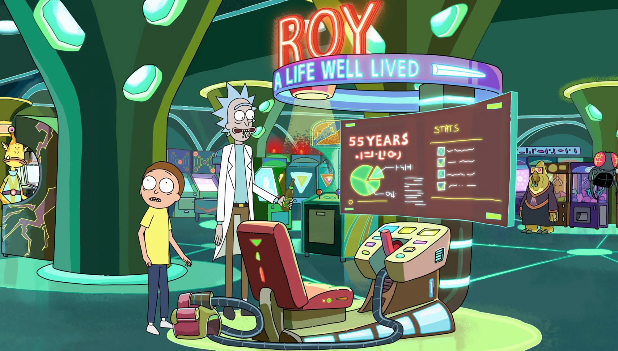 Ricky and Morty - Roy: A Life Well Lived (Season 2, Episode 2)
