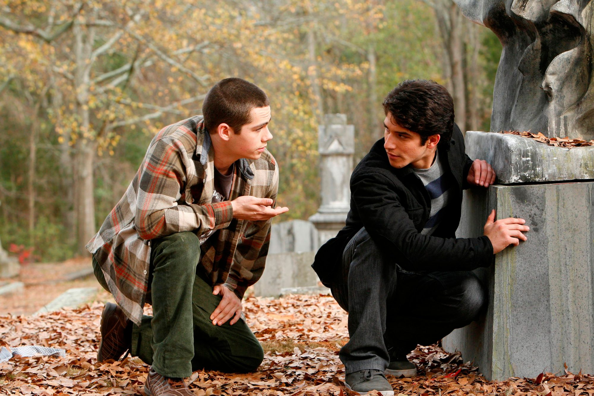 Scott McCall (Tyler Posey) and Stiles (Dylan O'Brien) Season Two