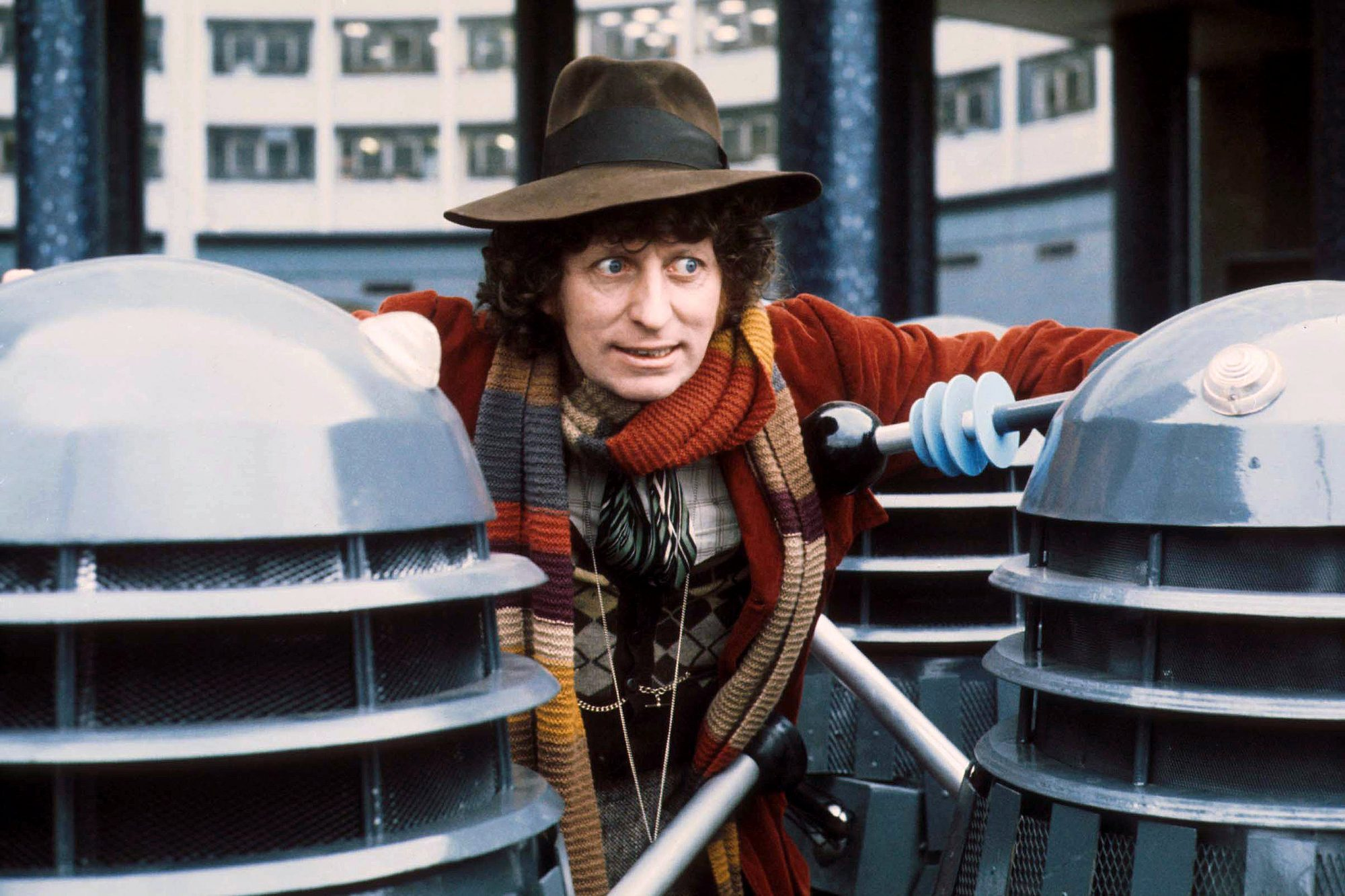 DOCTOR WHO, Tom Baker with Daleks, 1963-1989.