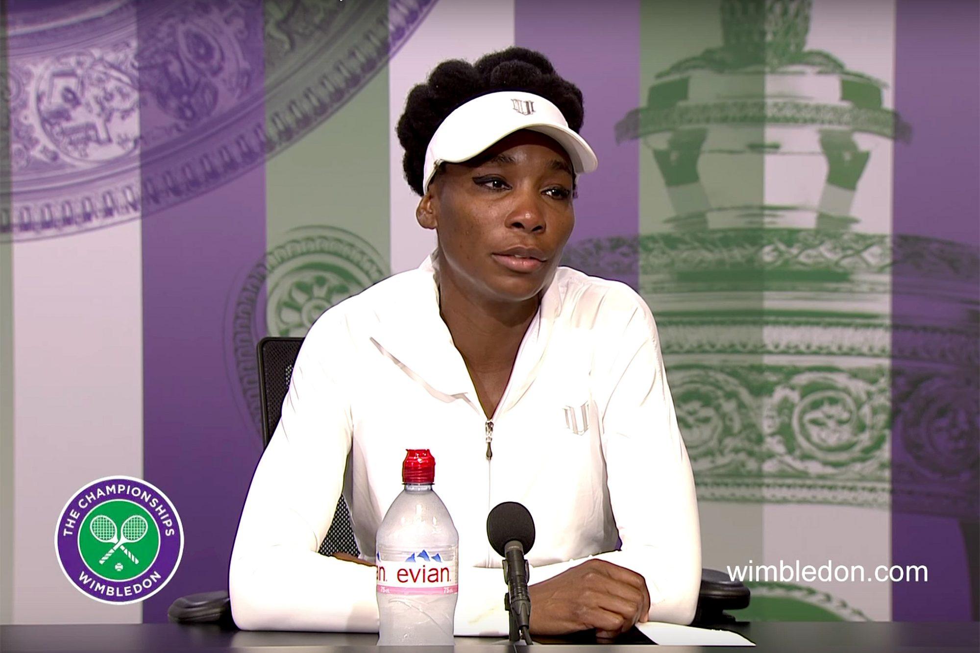 Venus Williams at Wimbledon press conference