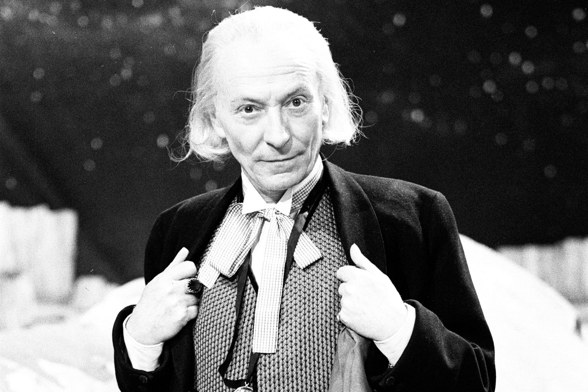Actor William Hartnell - the first Doctor - pictured during rehearsals at Television Centre - Studio TC1 - 10th February