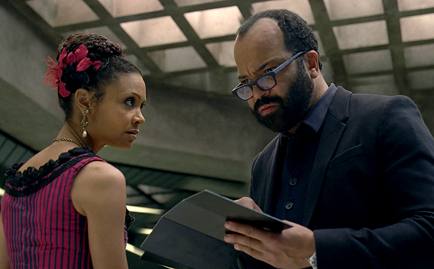 GALLERY: Most Shocking TV Moments of 2016: Westworld Season 1, Episode 9 Air Date: 11/27/16 Pictured: Thandie Newton, Jeffrey Wright.
