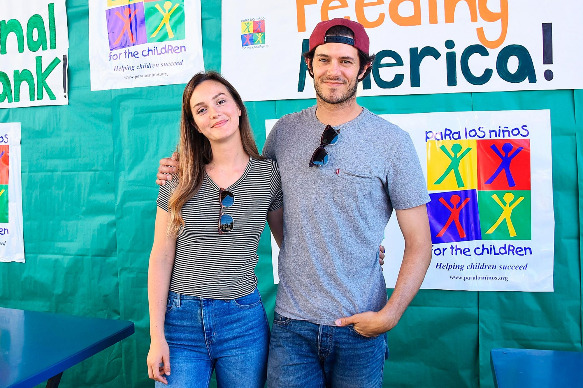 Celebrity Friends Volunteer At Feeding America's Summer Hunger Awareness Event At Para Los Ninos in Los Angeles