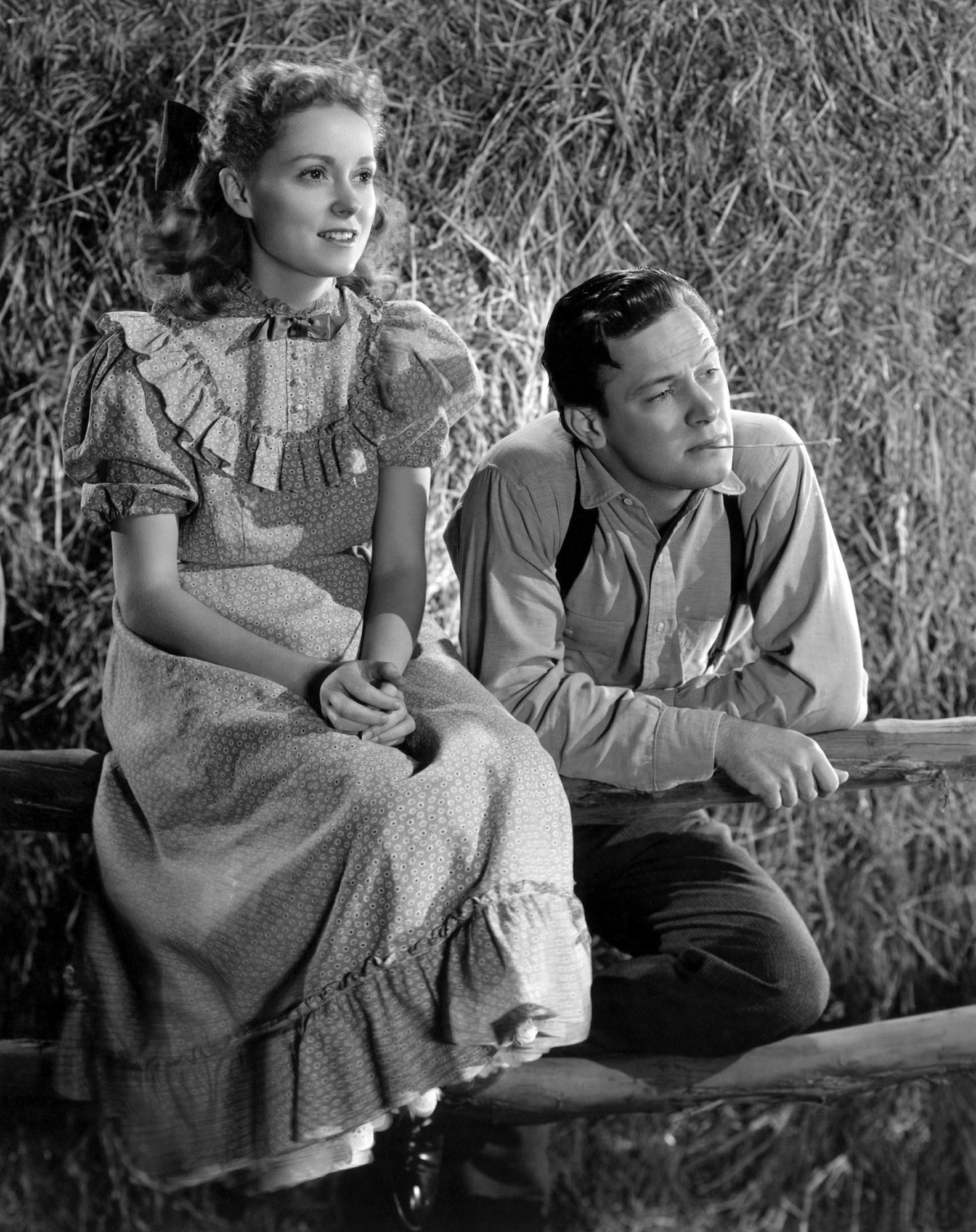 OUR TOWN, from left: Martha Scott, William Holden, 1940