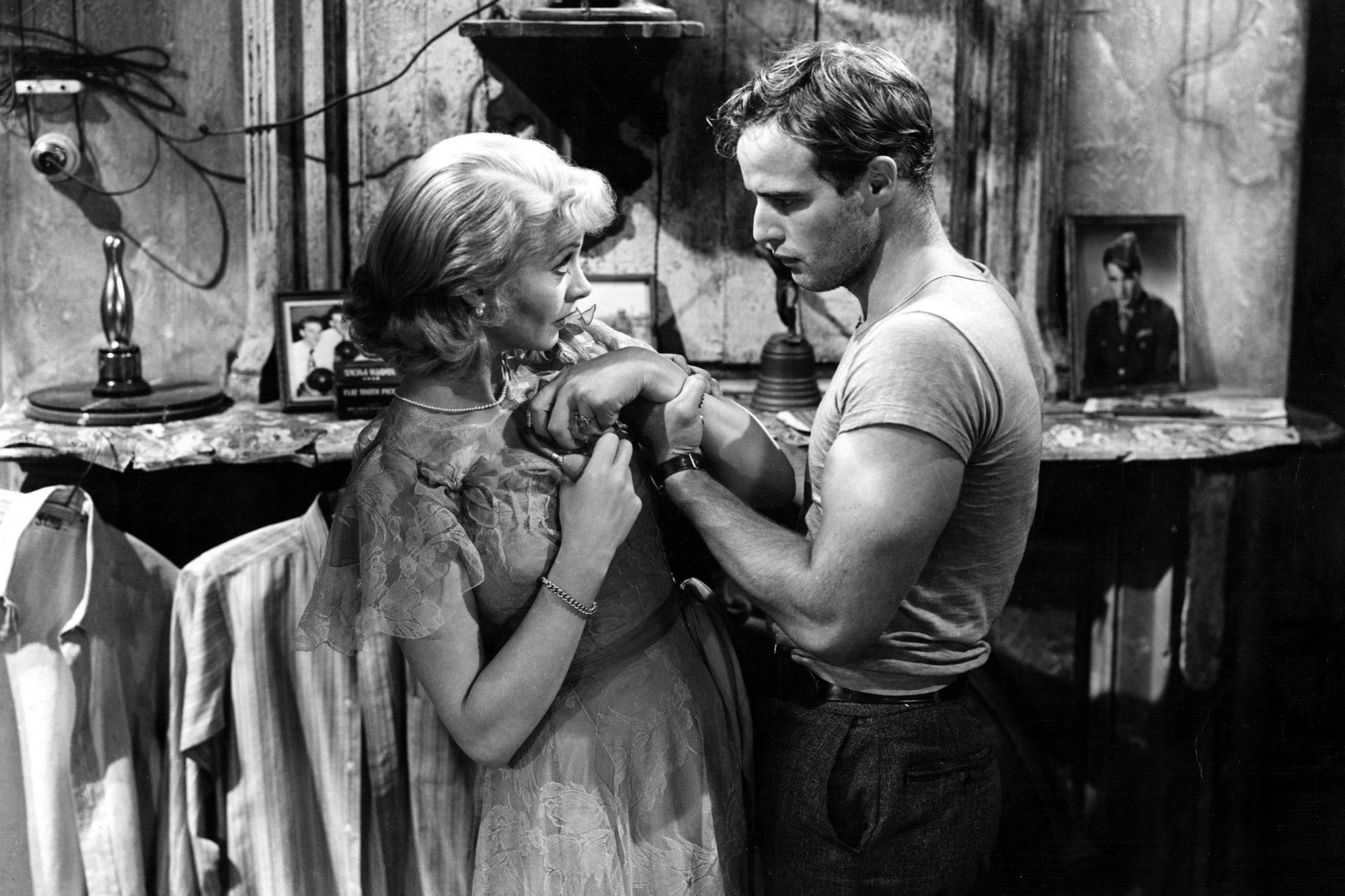 A STREETCAR NAMED DESIRE, Vivien Leigh, Marlon Brando, 1951