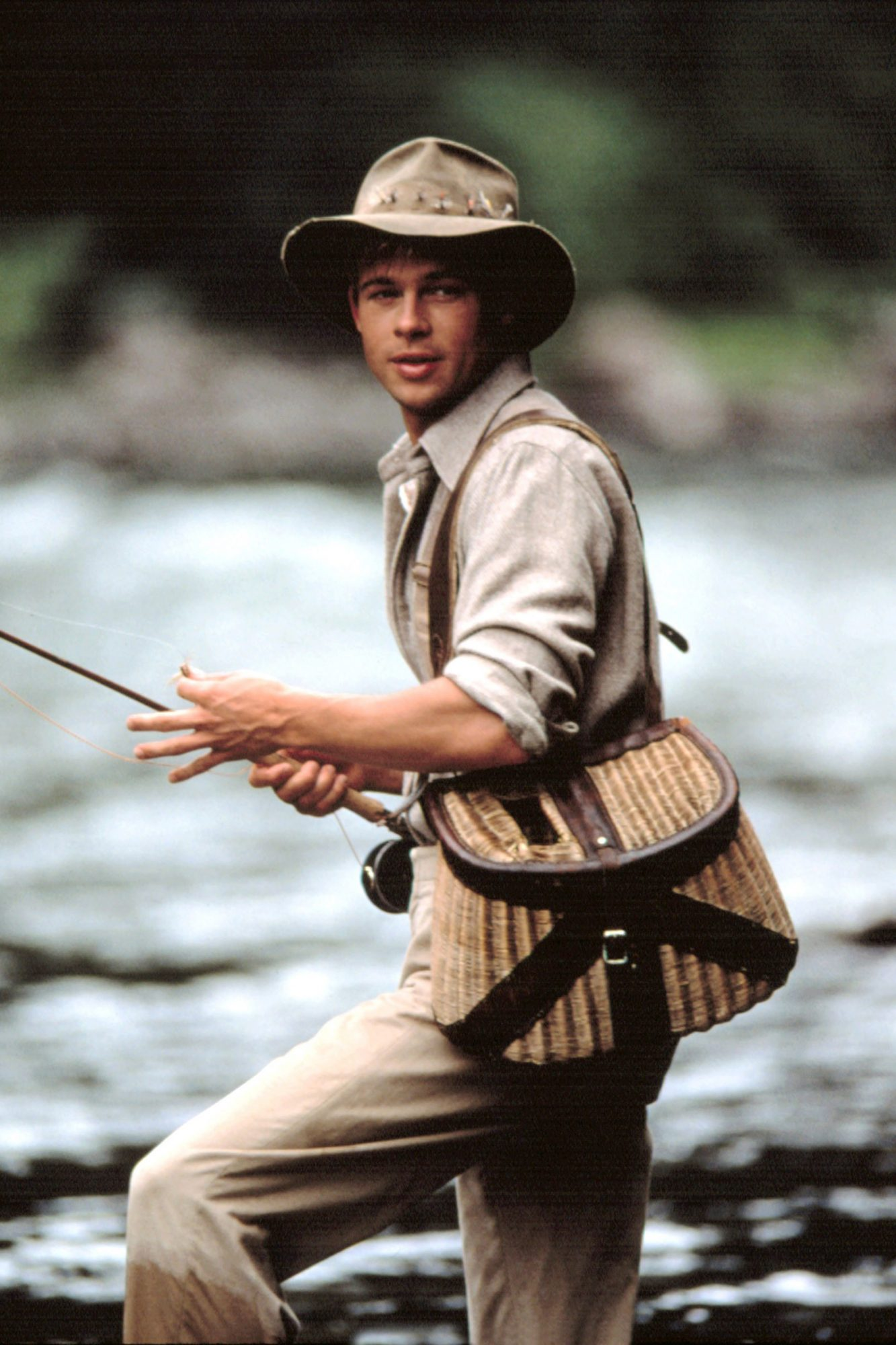 A RIVER RUNS THROUGH IT, Brad Pitt, 1992. (c)Columbia Pictures/Courtesy Everett Collection.