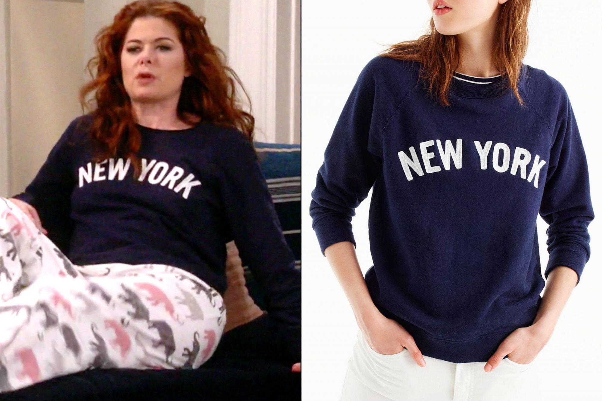 Grace's (Debra Messing) New York sweater on Will & Grace