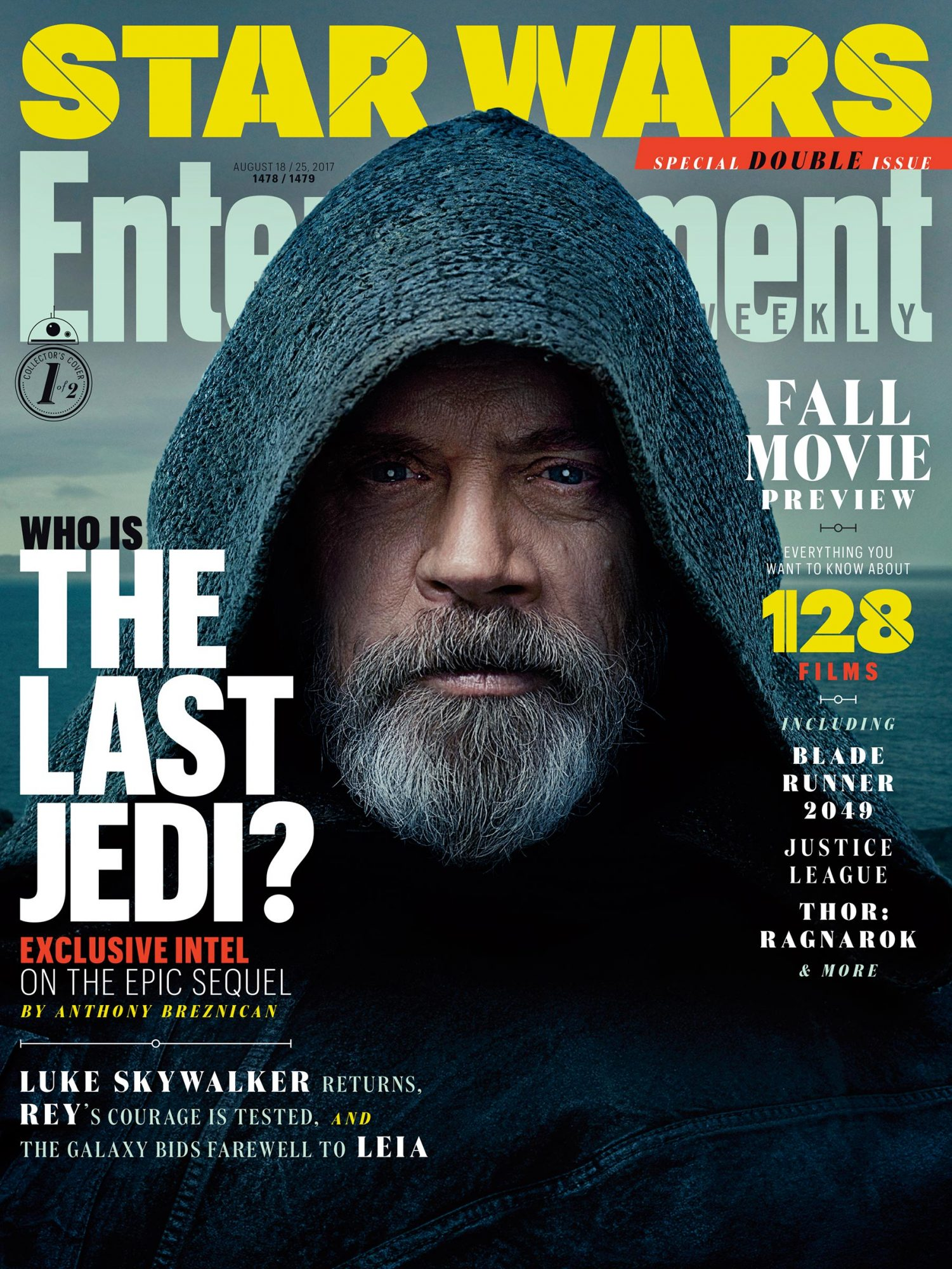 2017: Mark Hamill in Star Wars: The Last Jedi
