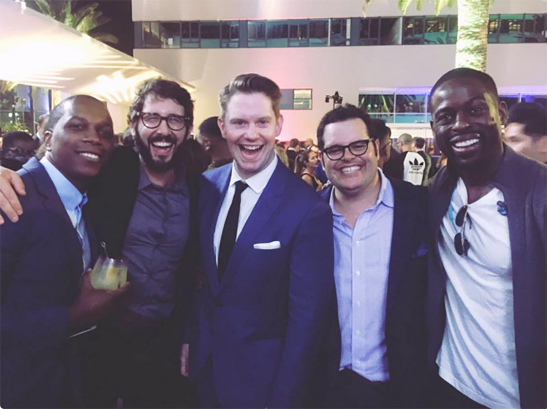 Leslie Odom Jr., Josh Groban, Rory O'Malley, Josh Gad, and Sterling K. Brown