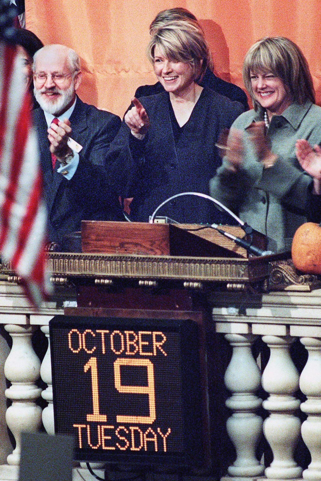 Martha Stewart (C), who heads the Martha Stewart L