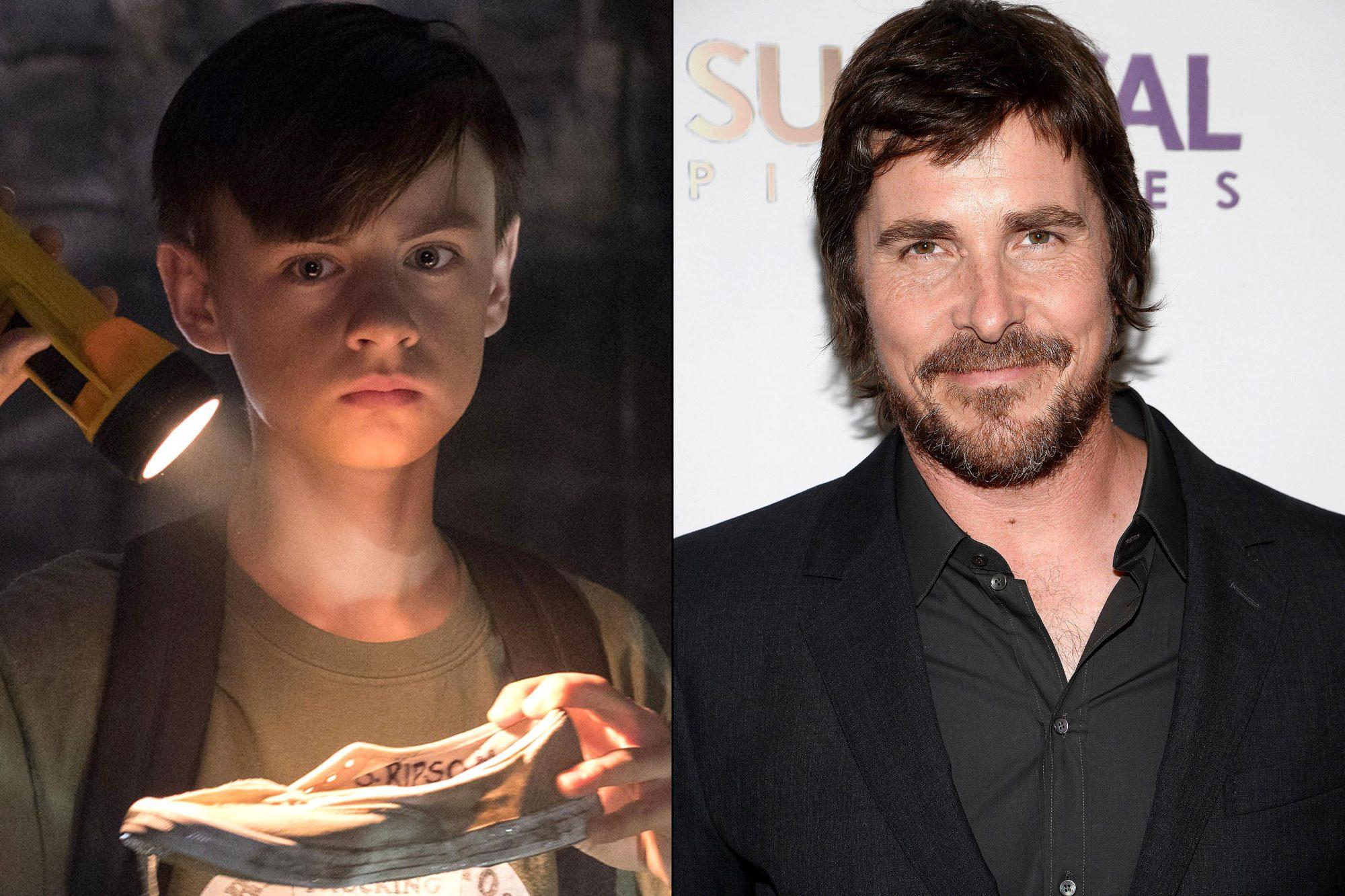 Jaden Lieberher and Christian Bale