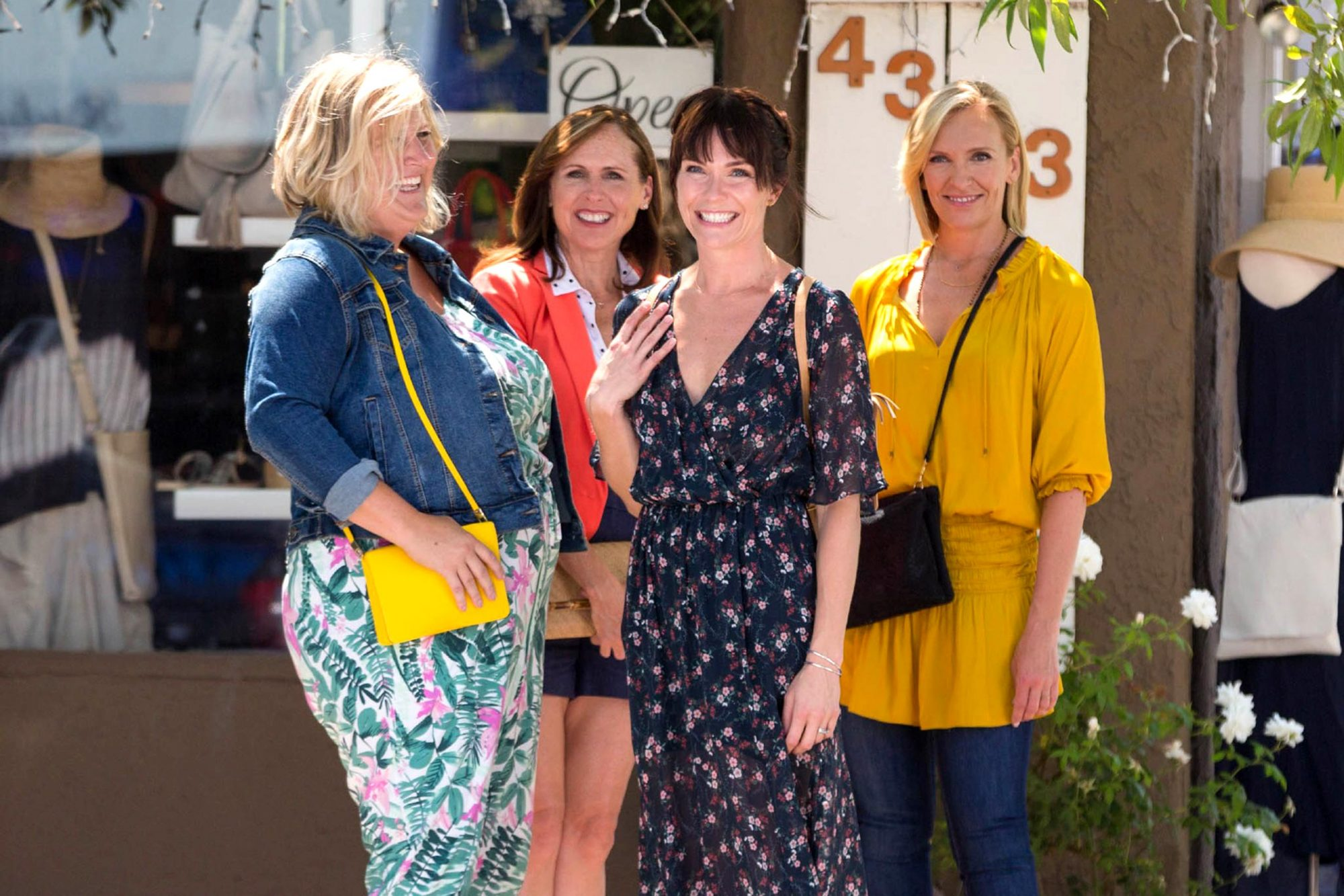 FUN MOM DINNER, from left: Bridget Everett, Molly Shannon, Katie Aselton, Toni Collette, 2017. ph: