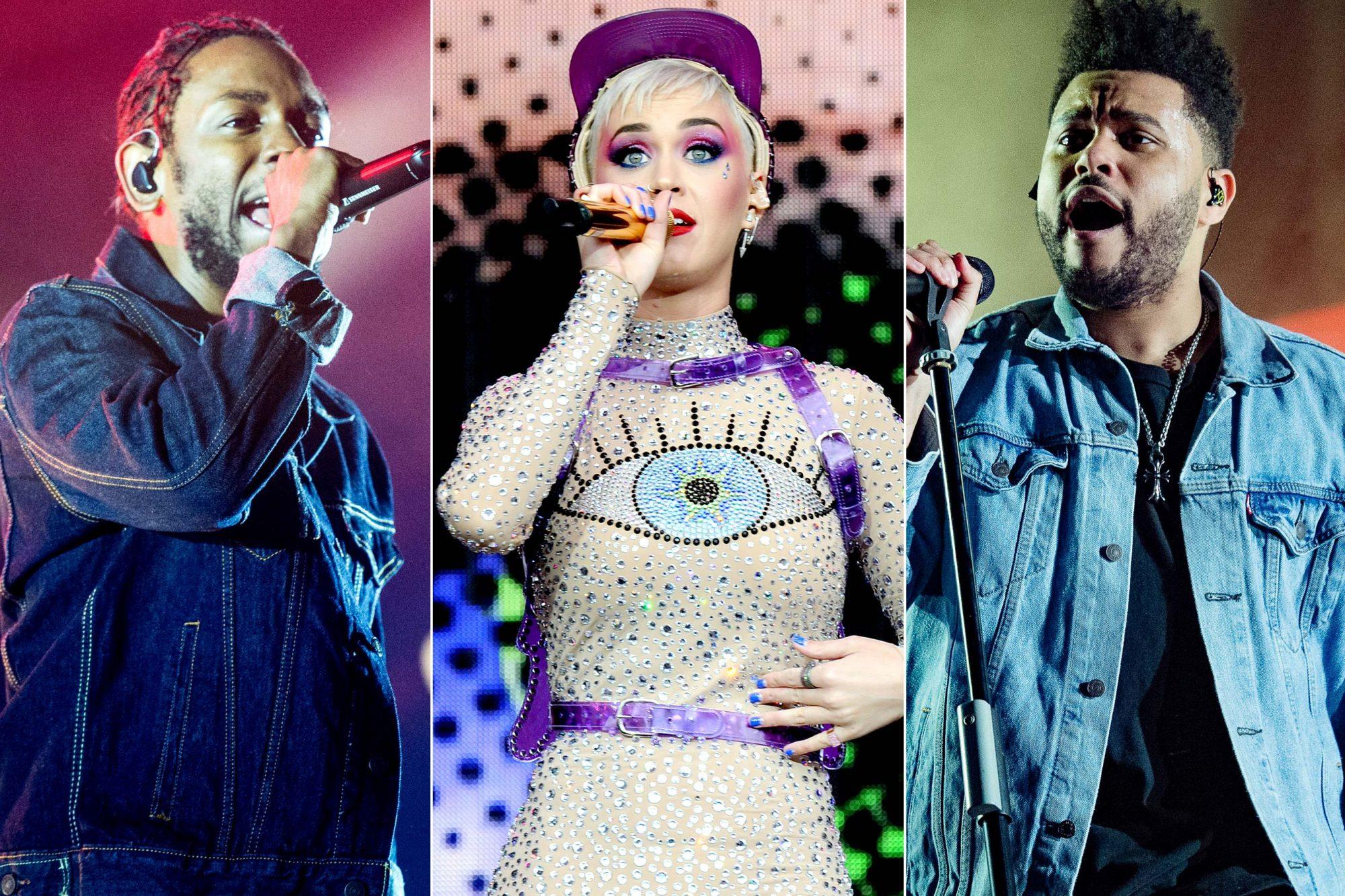 Kendrick Lamar / Katy Perry / The Weeknd