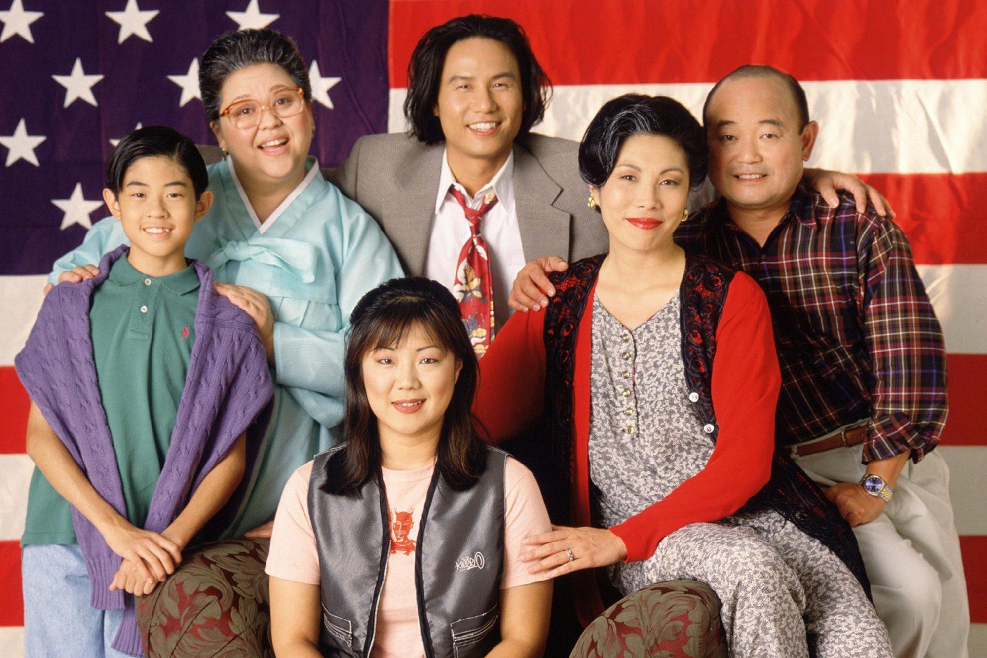 ALL-AMERICAN GIRL, J.B. Quon, Amy Hill, B.D. Wong, Jodi Long, Clyde Kusatsu, Margaret Cho (front), 1