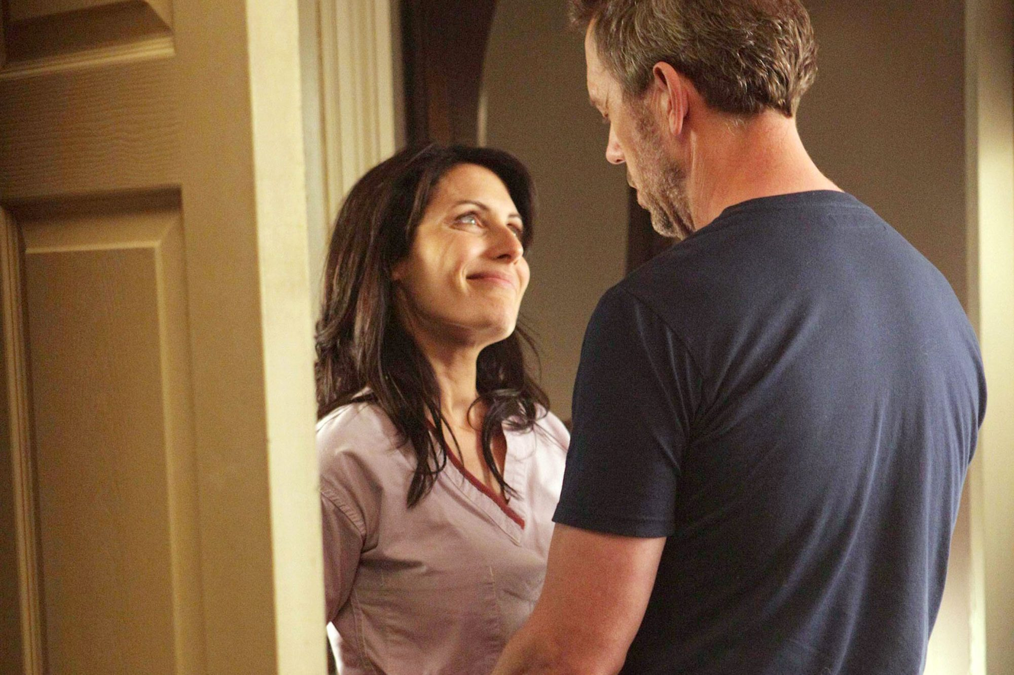 HOUSE, (from left): Lisa Edelstein, Hugh Laurie, 'Now What?', (Season 7, airing Sept. 20, 2010), 200