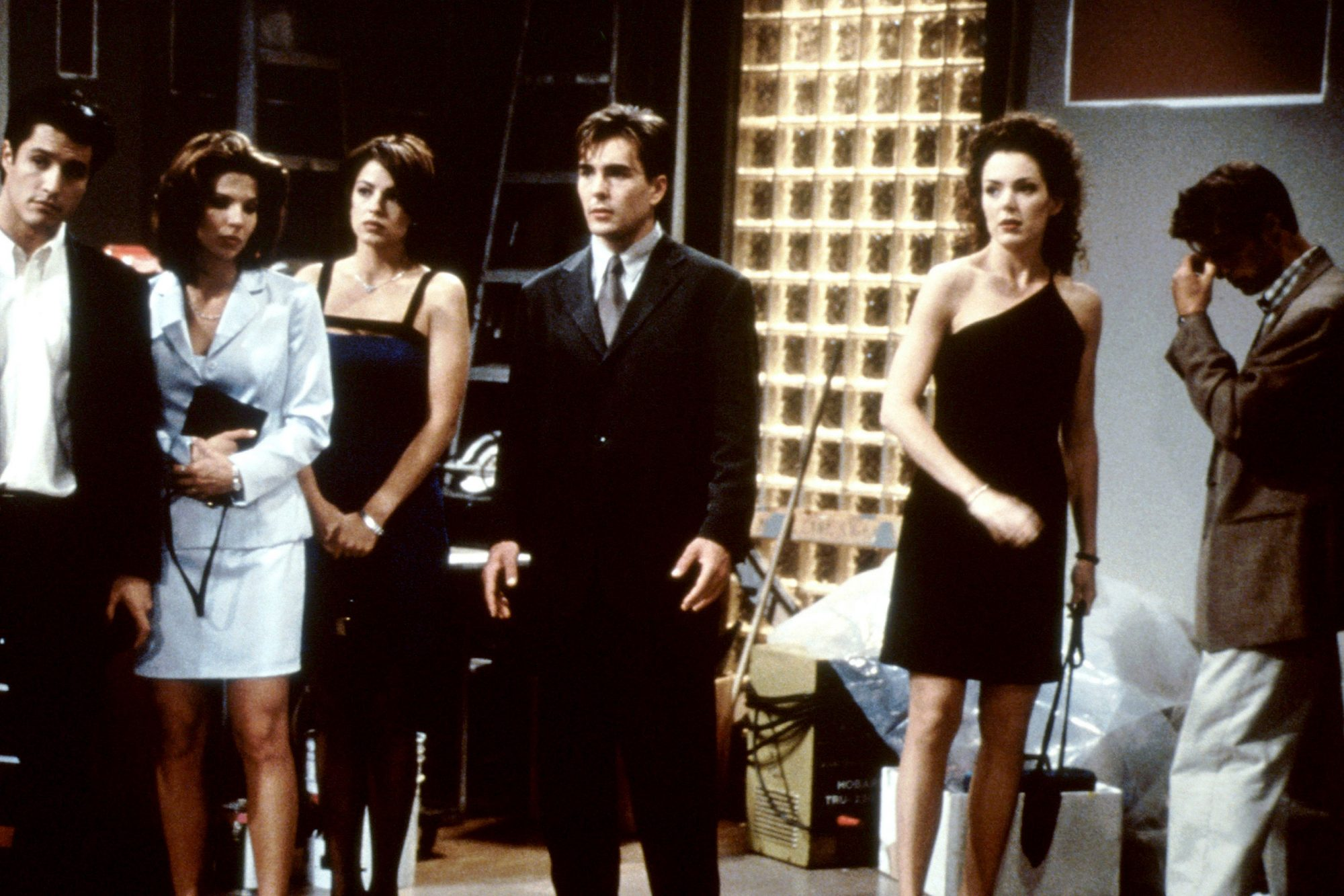 PORT CHARLES, Michael Dietz (left), Julie Pinson 2md from left), Nolan North (center), Lisa Ann Hadl