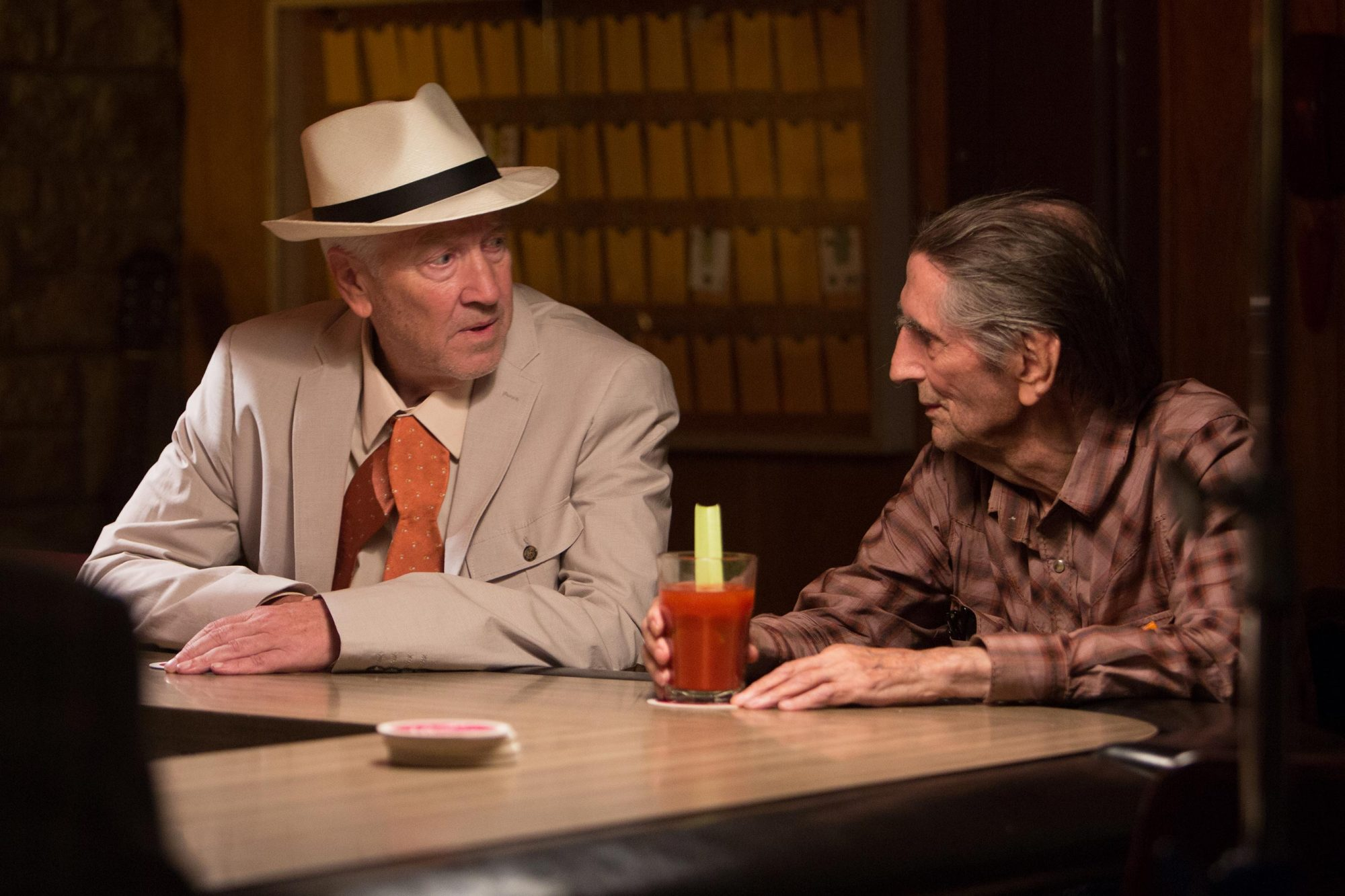 Lucky (2017) David Lynch and Harry Dean Stanton CR: Magnolia Pictures