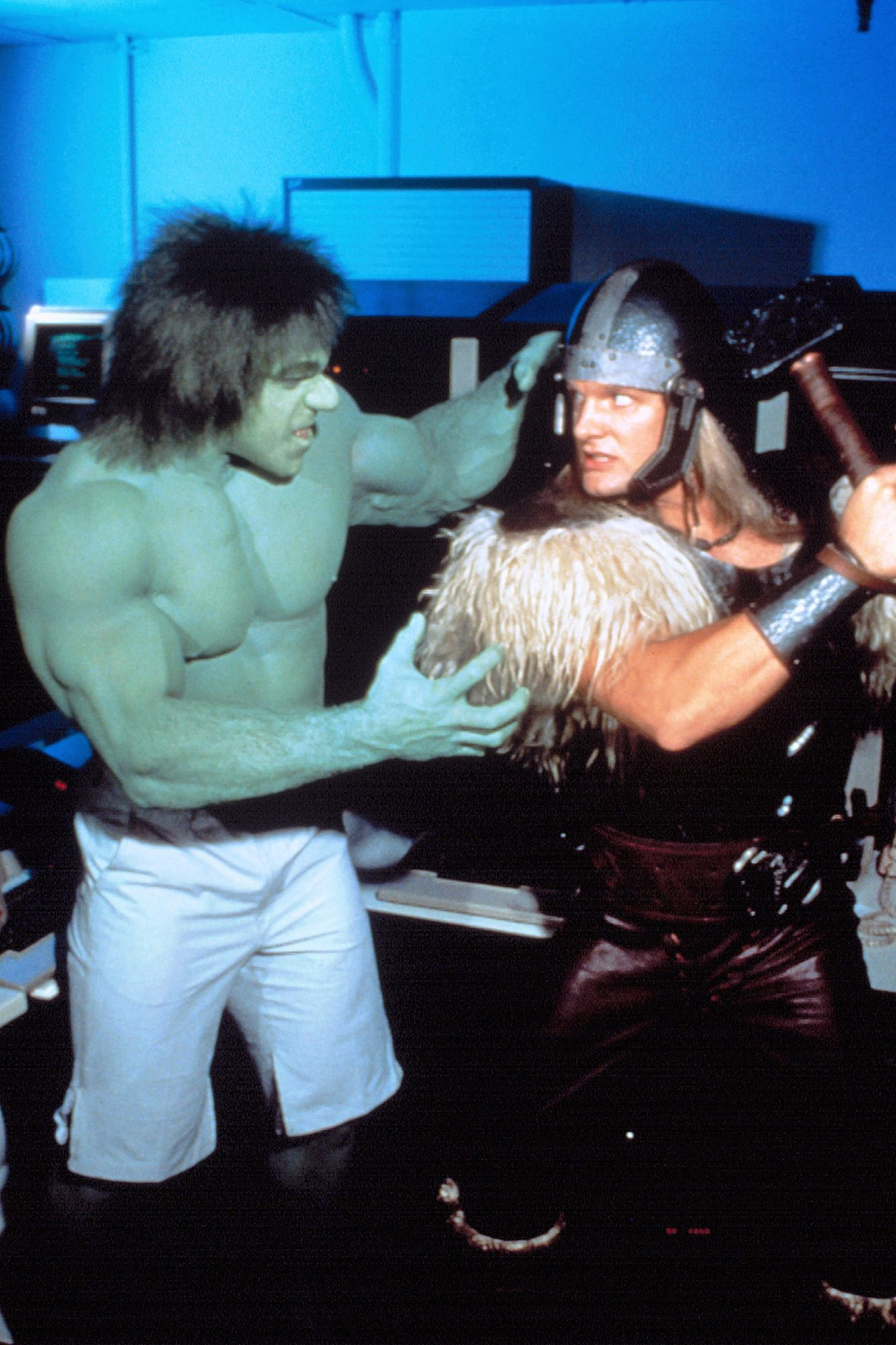 INCREDIBLE HULK RETURNS,  Lou Ferrigno, Eric Kramer, 1988. The Incredible Hulk, joins forces with Th