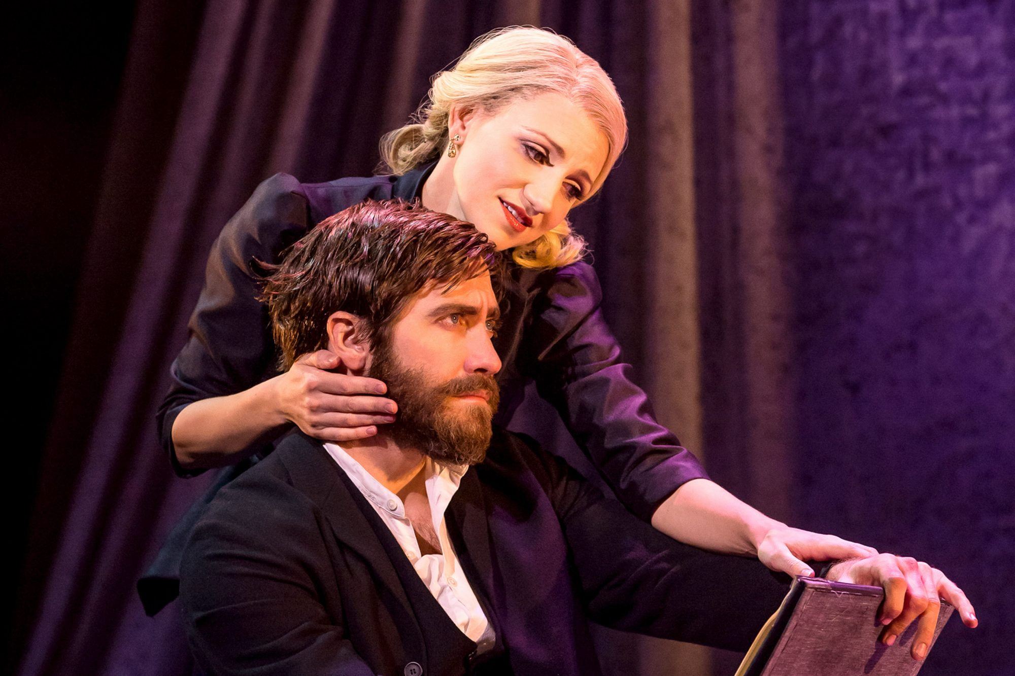 Annaleigh Ashford and Jake Gyllenhaal in Sunday in the Park with George