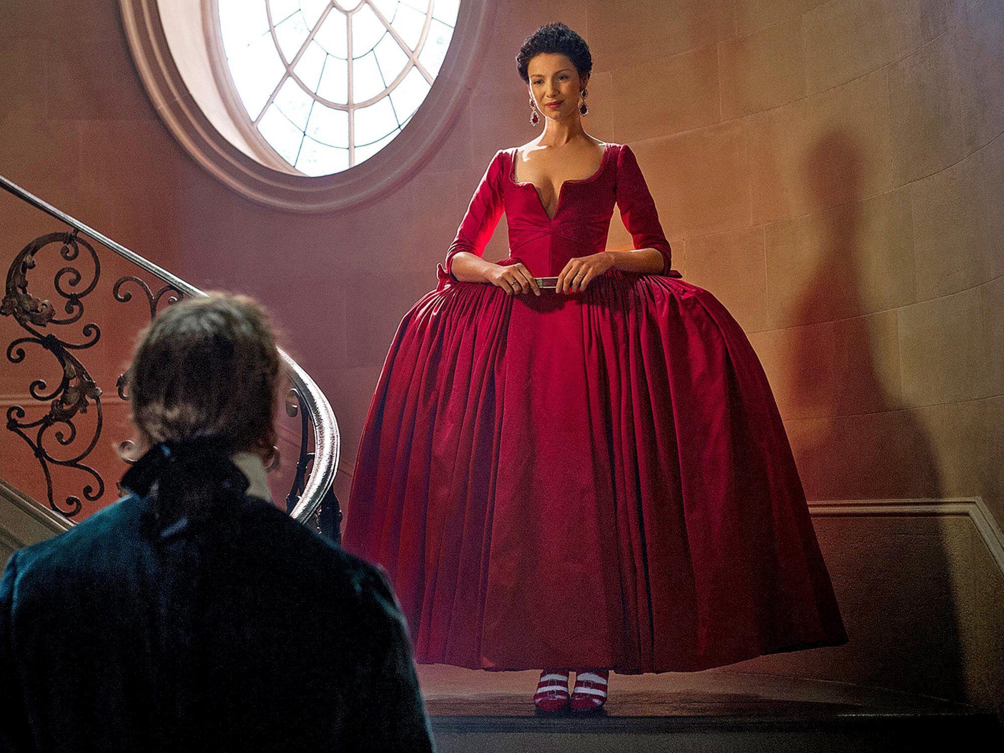The Best Claire Fraser Outlander Red Dress Background
