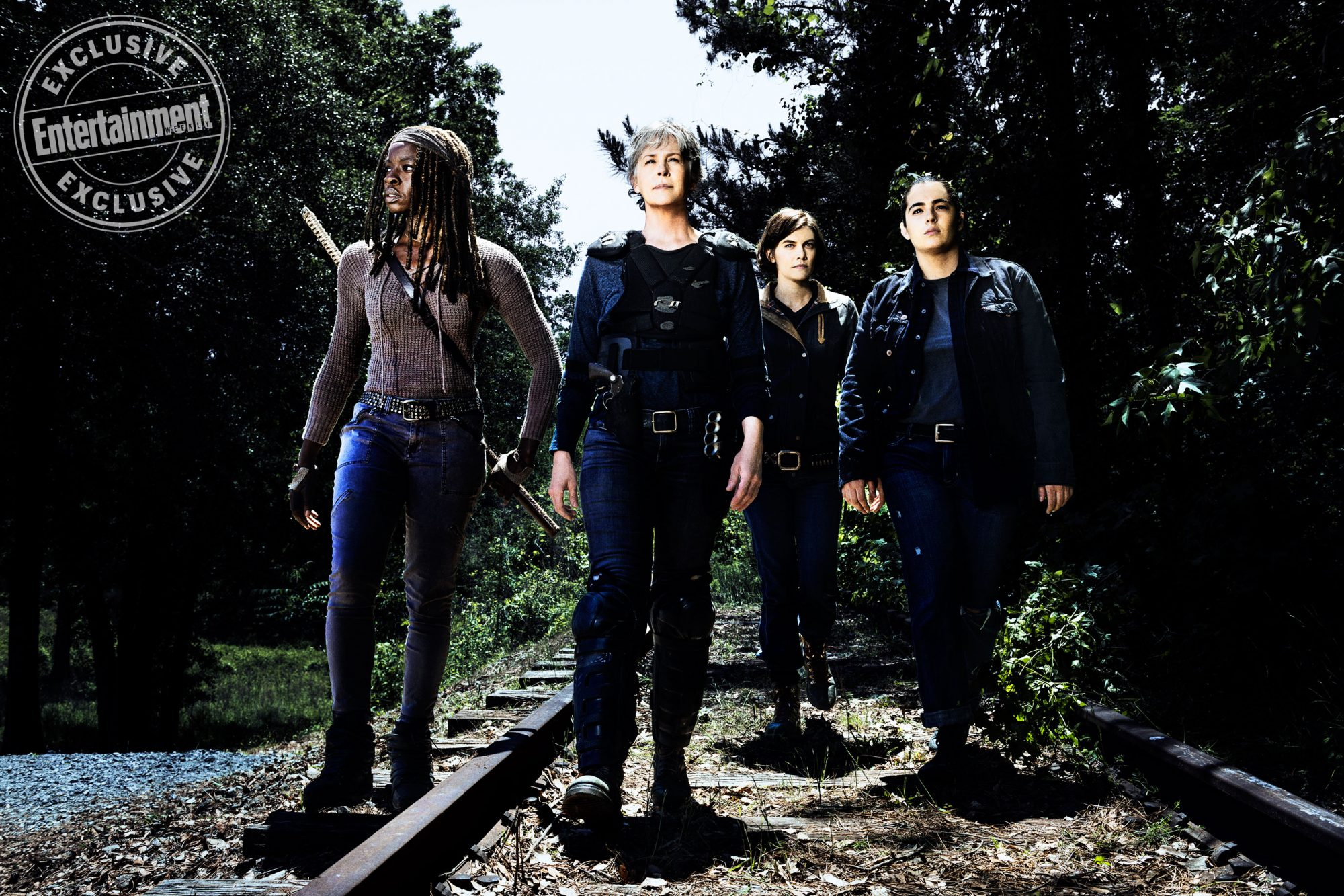 Danai-Gurira-as-Michonne,-Melissa-McBride-as-Carol-Peletier,-Lauren-Cohan-as-Maggie-Greene,-Alanna-Masterson-as-Tara-Chambler --The-Walking-Dead-_-Season-8,-Gallery---Photo-Credit-Alan-
