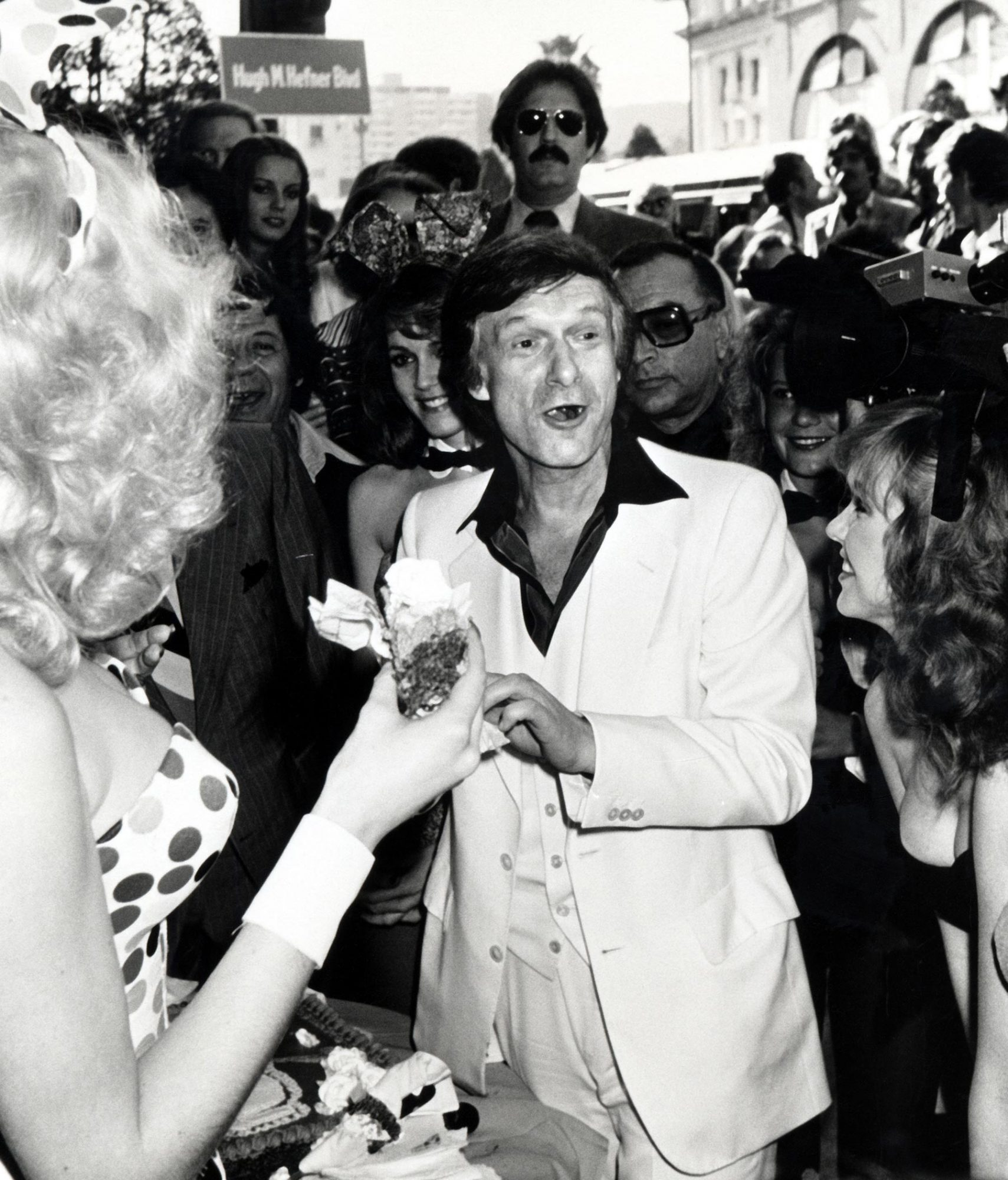 Hugh Hefner Receives a Star on the Hollywood Walk of Fame for His Achievements in Television