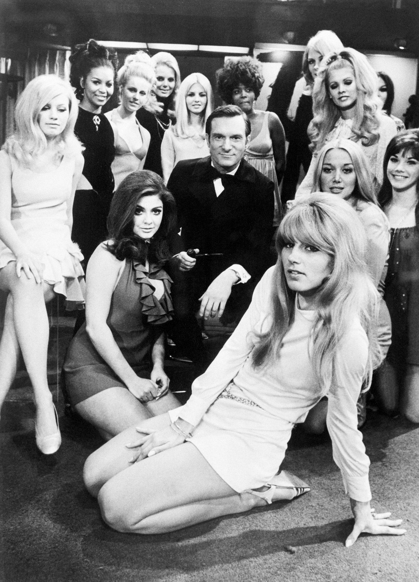 Hugh Hefner on Set of Playboy After Dark