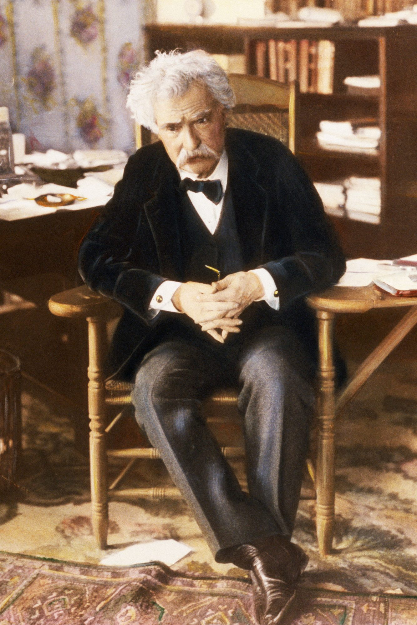 Samuel Clemens Deep in Thought
