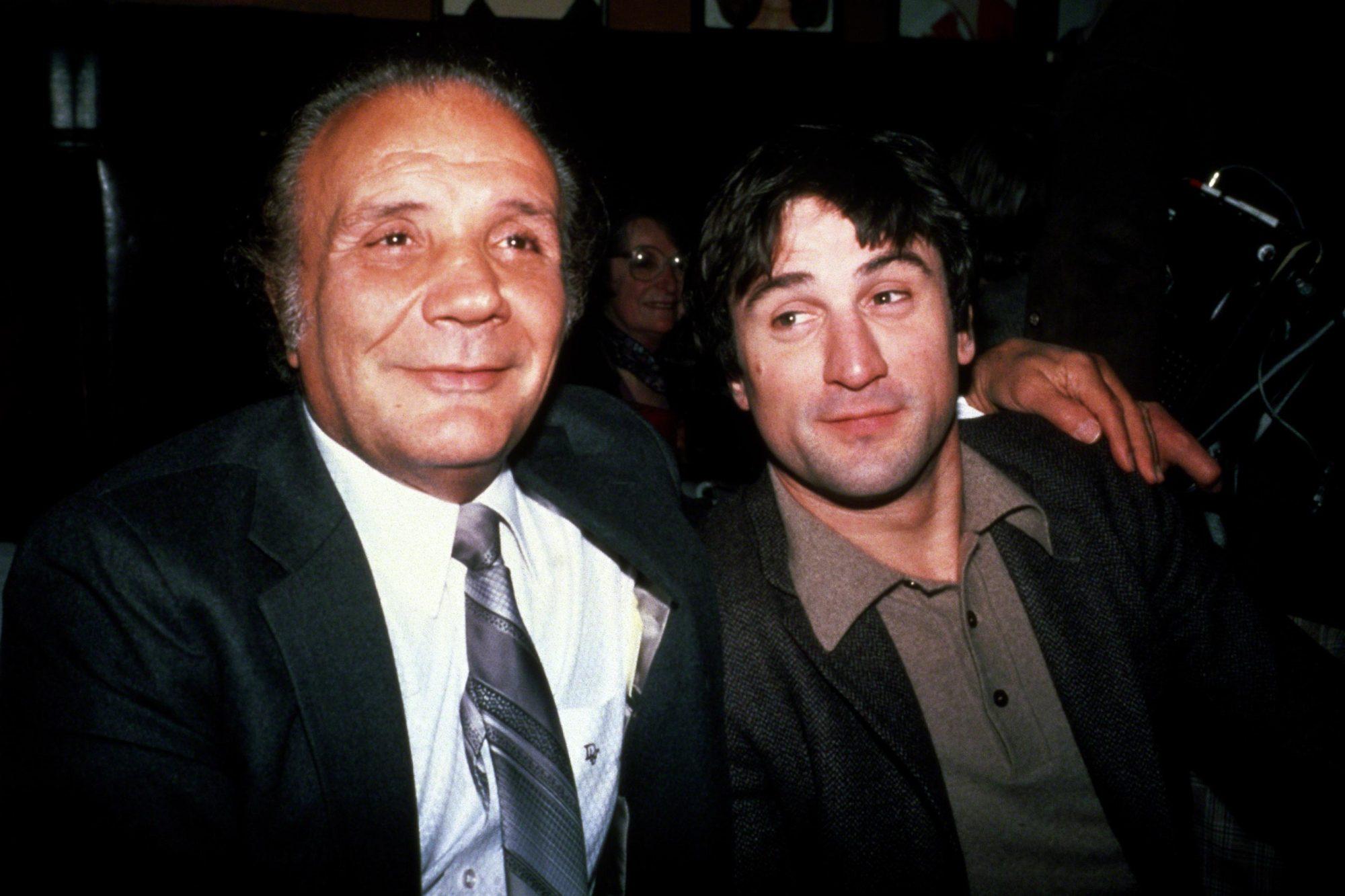 Jake LaMotta and Robert De Niro at Sardi's