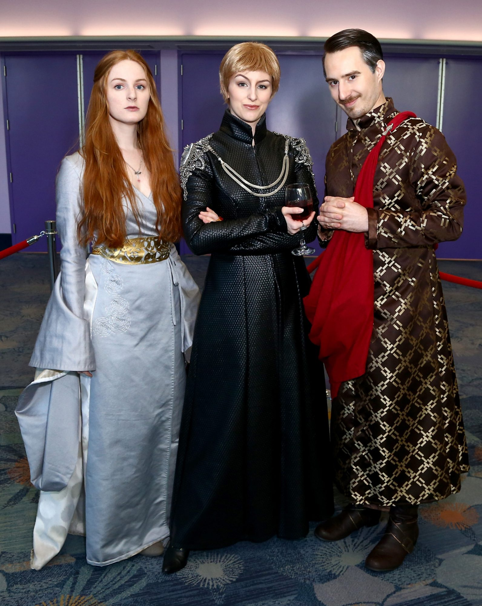 Sansa Stark, Cersei Lannister, and Littlefinger Cosplayers at WonderCon 2017