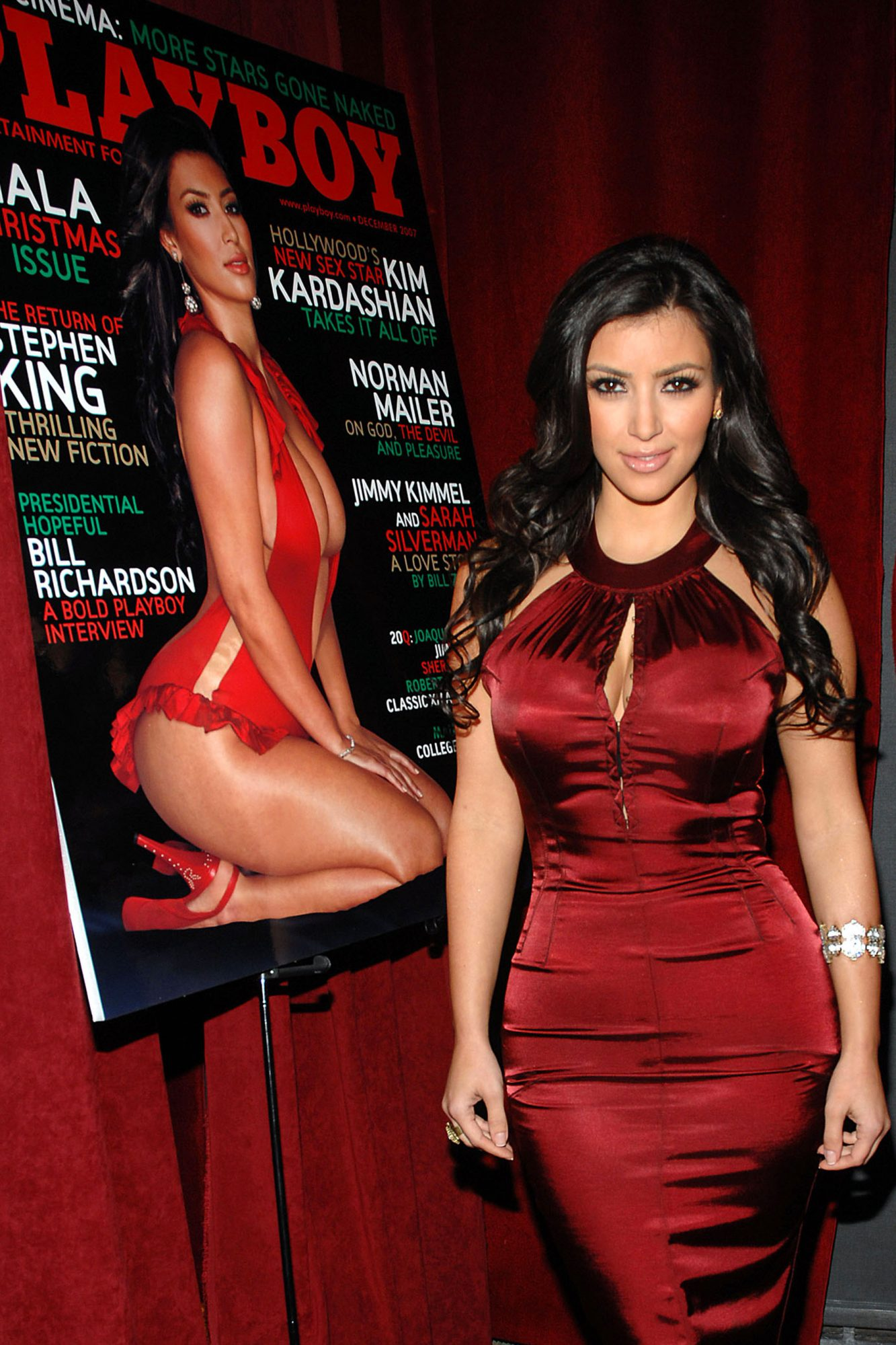 Playboy Celebrates December Cover Girl Kim Kardashian
