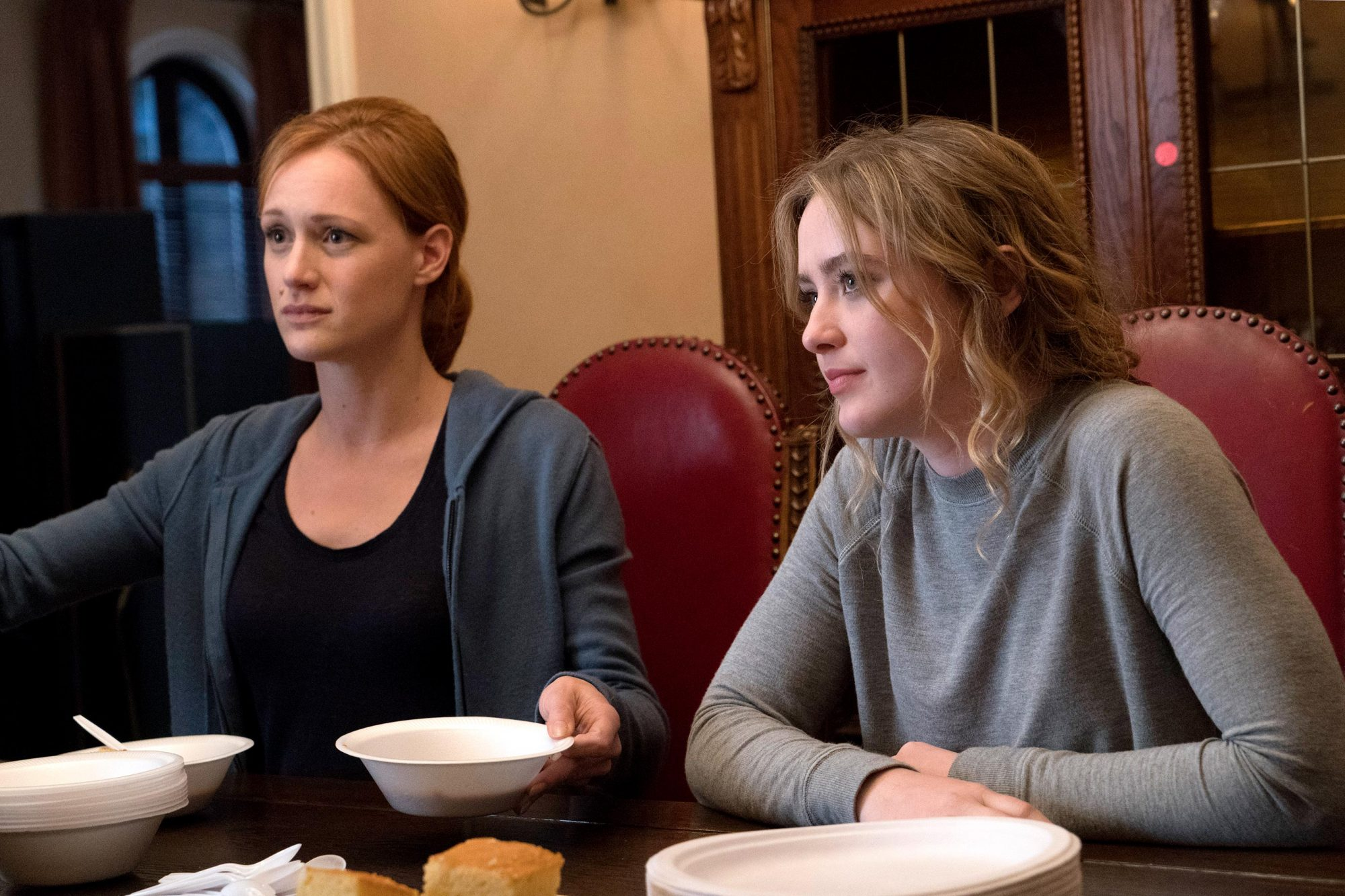 """HALT AND CATCH FIREEpisode: """"Goodwill""""Kerry Bishe, Kathryn Newton"""