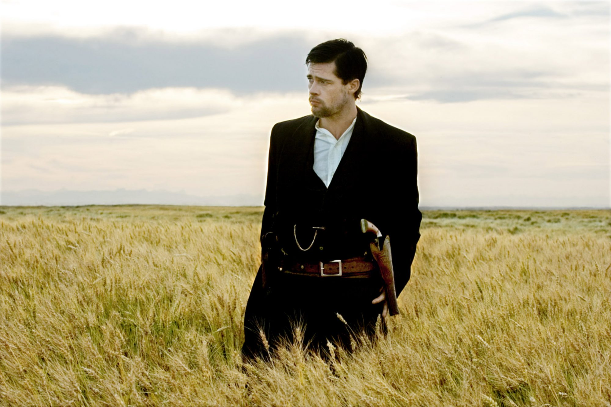 THE ASSASSINATION OF JESSE JAMES BY THE COWARD BOB FORD, Brad Pitt as Jesse James, 2007. (c) Warner