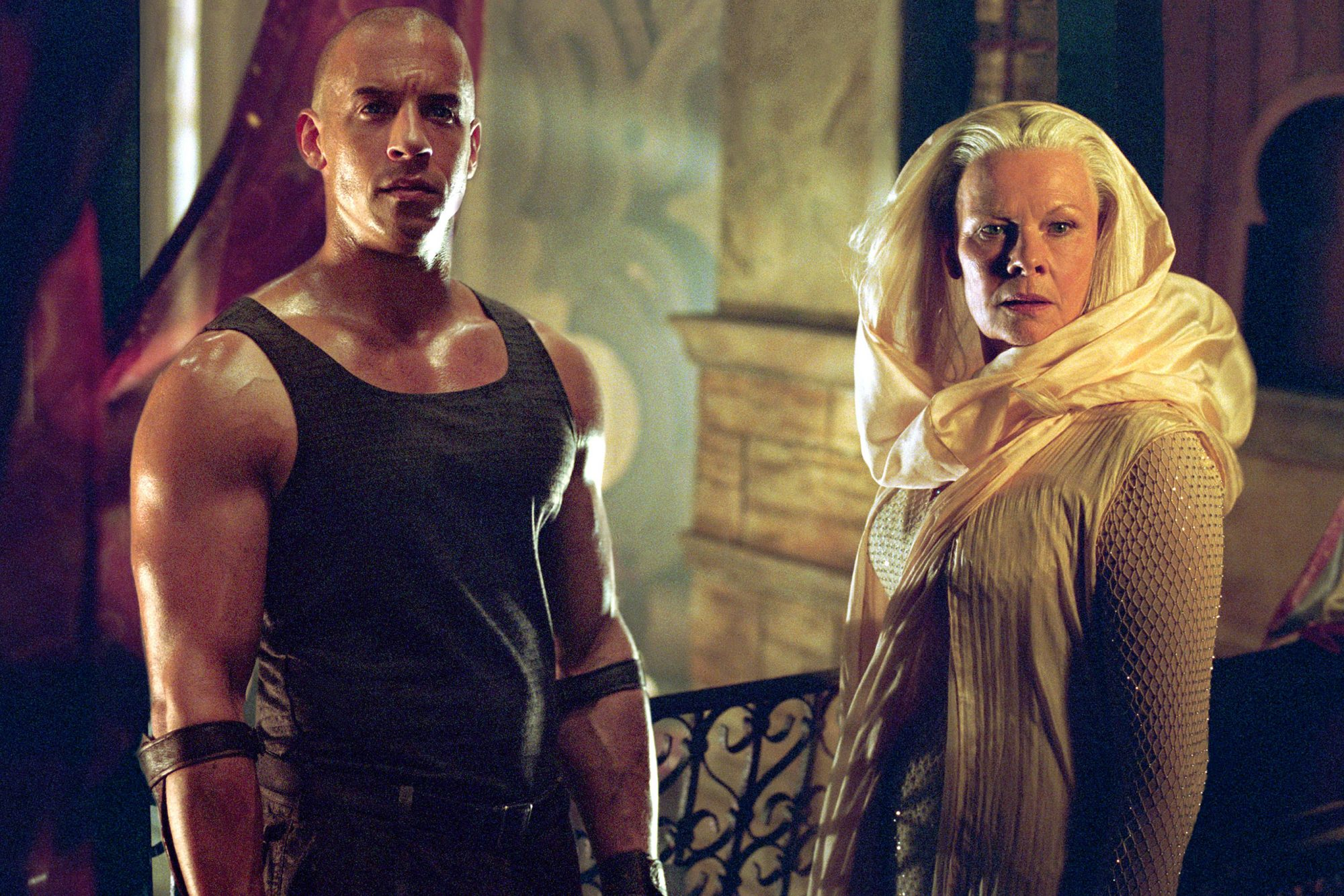 THE CHRONICLES OF RIDDICK, Vin Diesel, Judi Dench, 2004, (c) Universal/courtesy Everett Collection