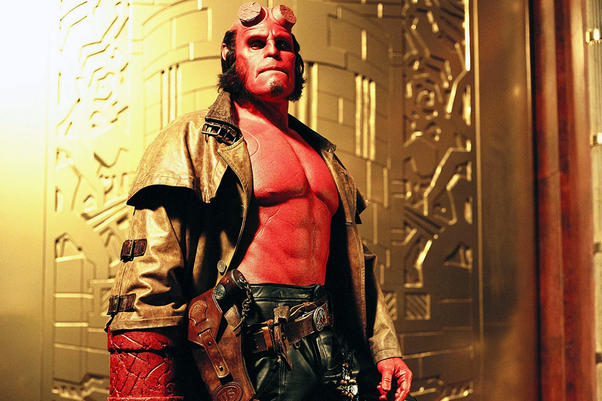 HELLBOY, Ron Perlman, 2004, (c) Columbia/courtesy Everett Collection