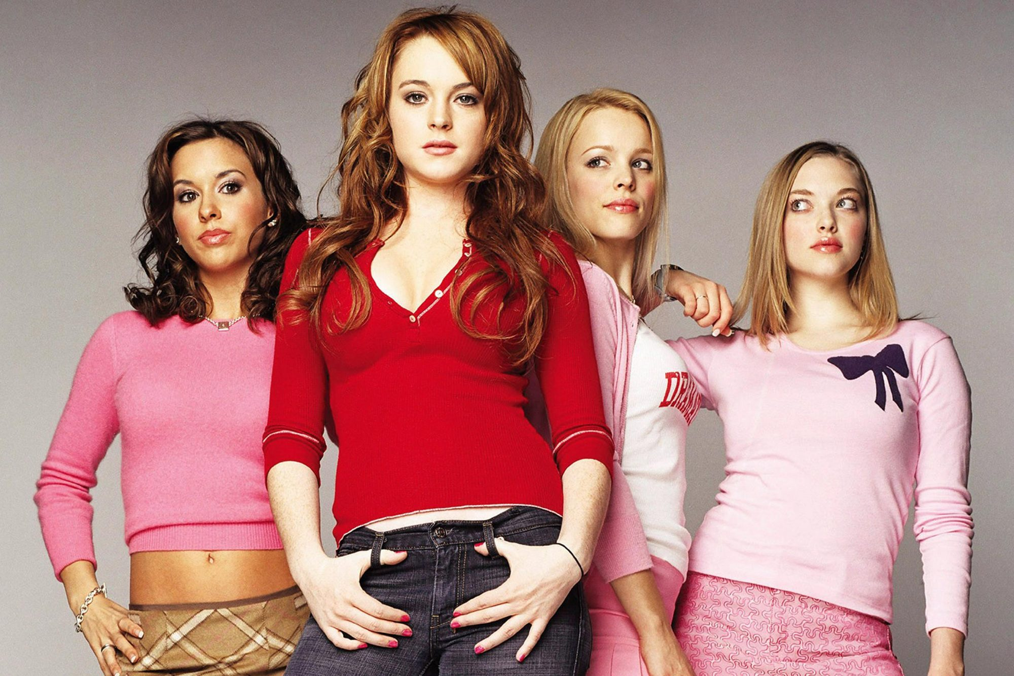 MEAN GIRLS, from left: Lacey Chabert, Lindsay Lohan, Rachel McAdams, Amanda Seyfried, 2004. ©Paramou