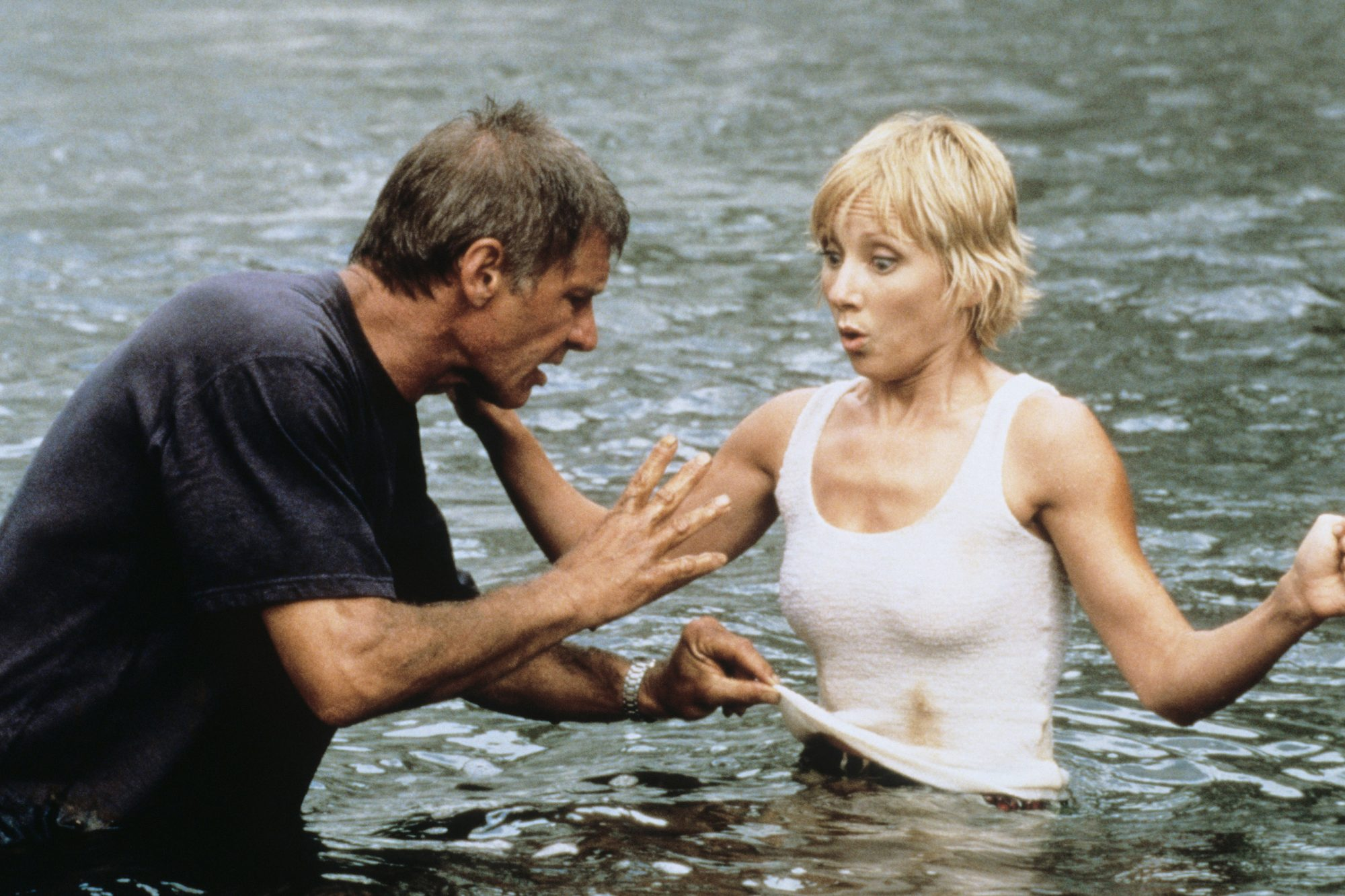 SIX DAYS SEVEN NIGHTS, from left: Harrison Ford, Anne Heche, 1998, © Buena Vista/courtesy Everett Co
